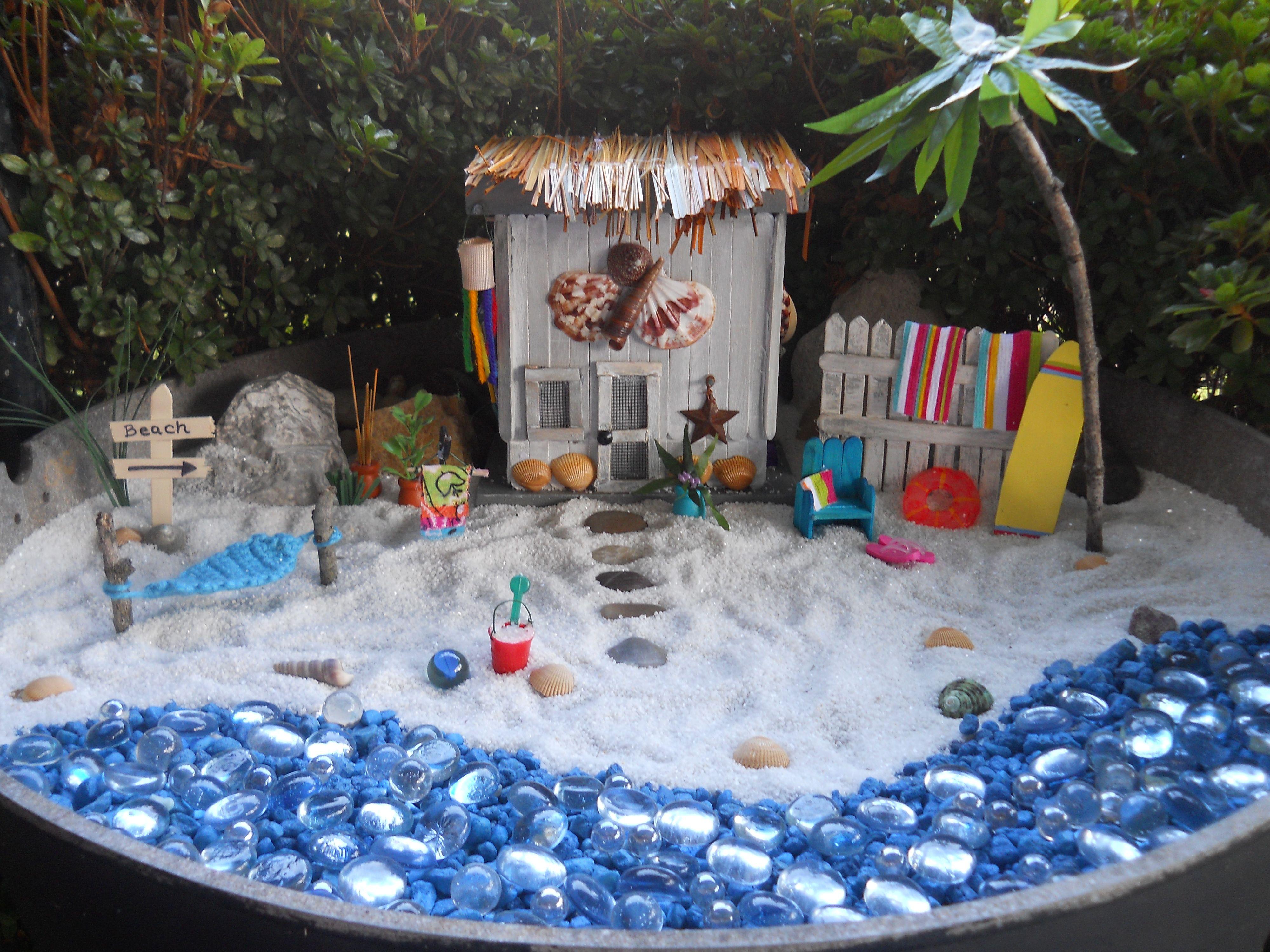 My fairy beach garden fairy gardening pinterest for Scene ideas