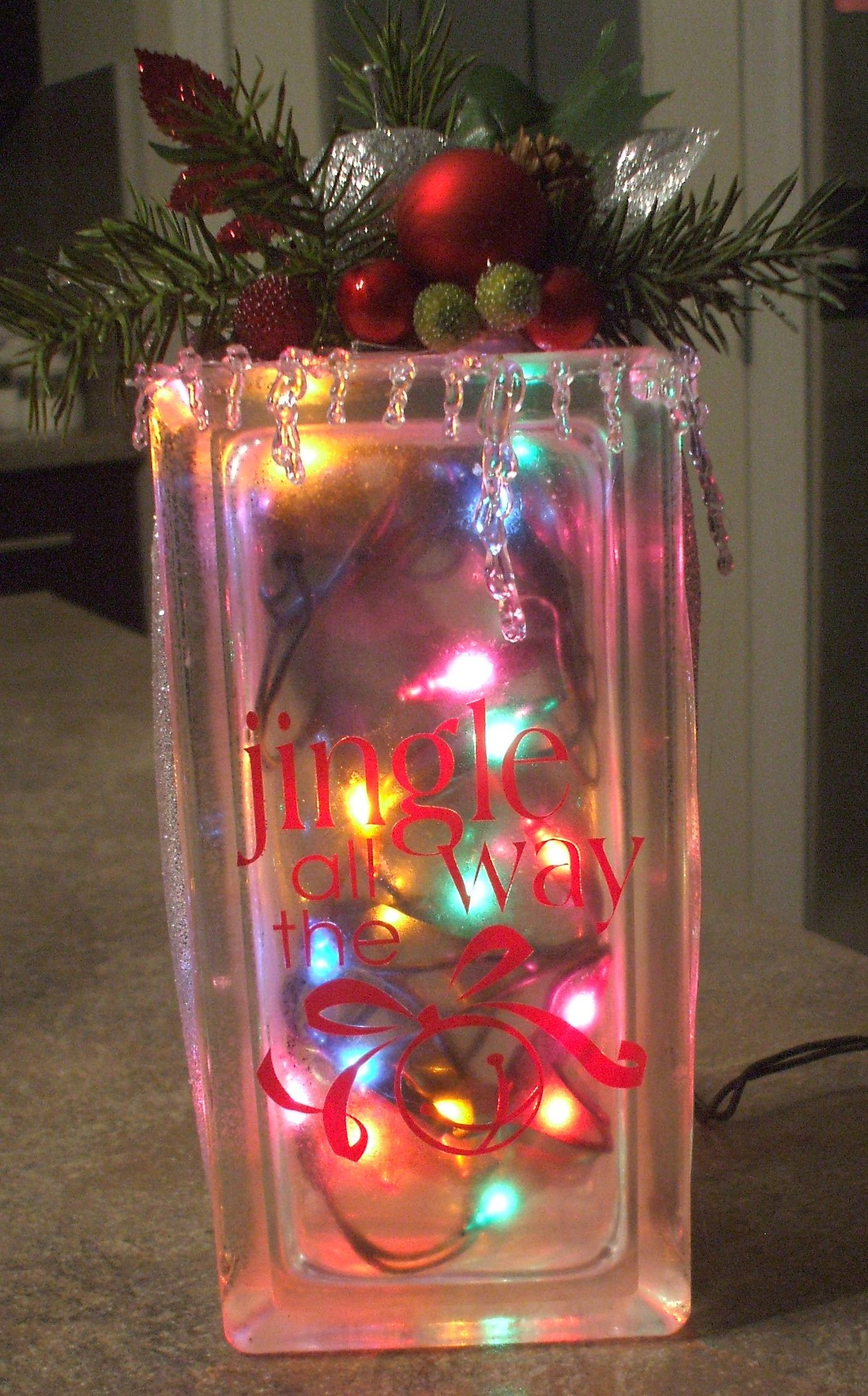 Small glass block with lights craft ideas pinterest for Wholesale glass blocks for crafts