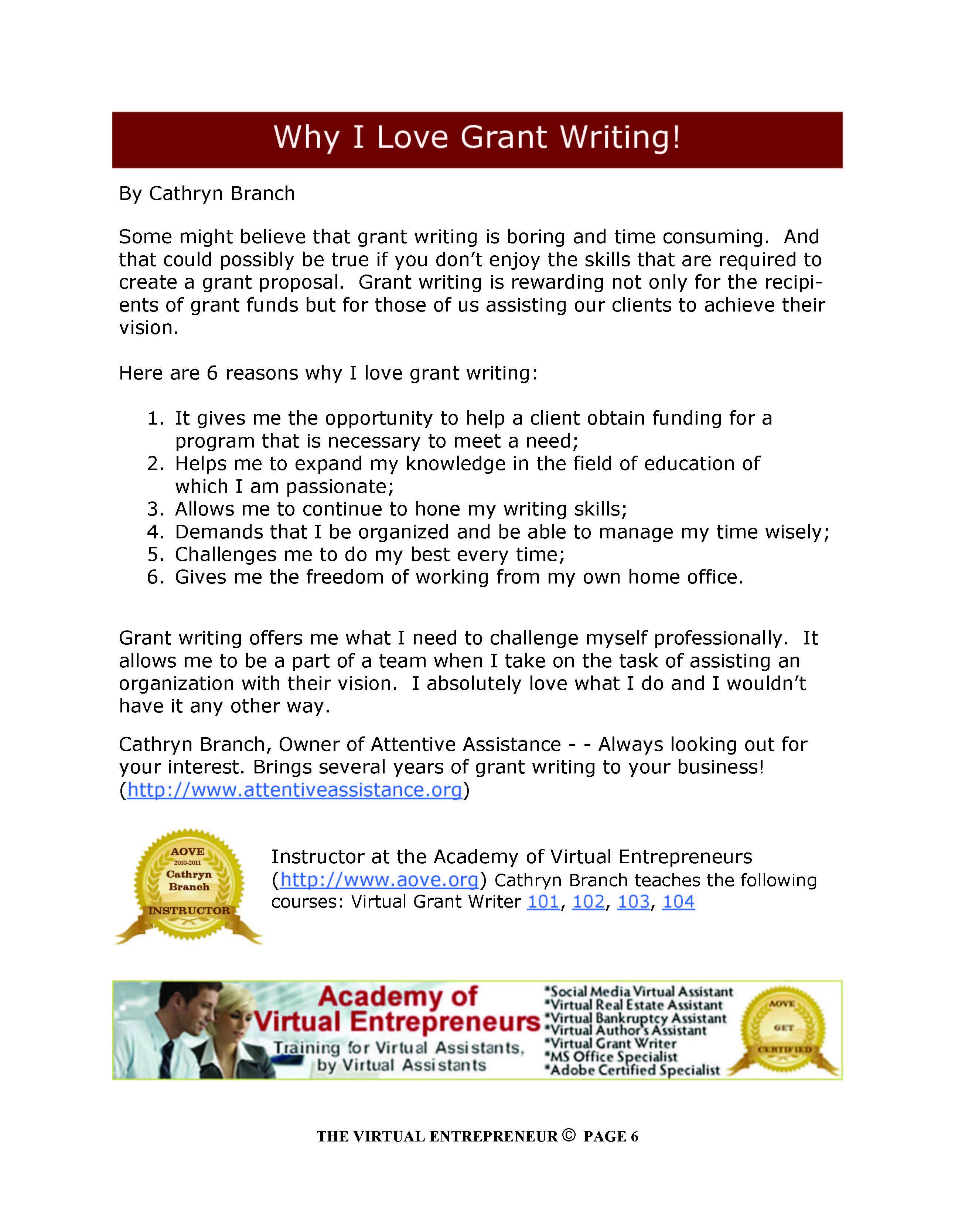 writing grants for dummies