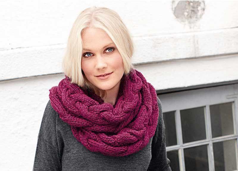 Вязание по косой спицами шарф 316