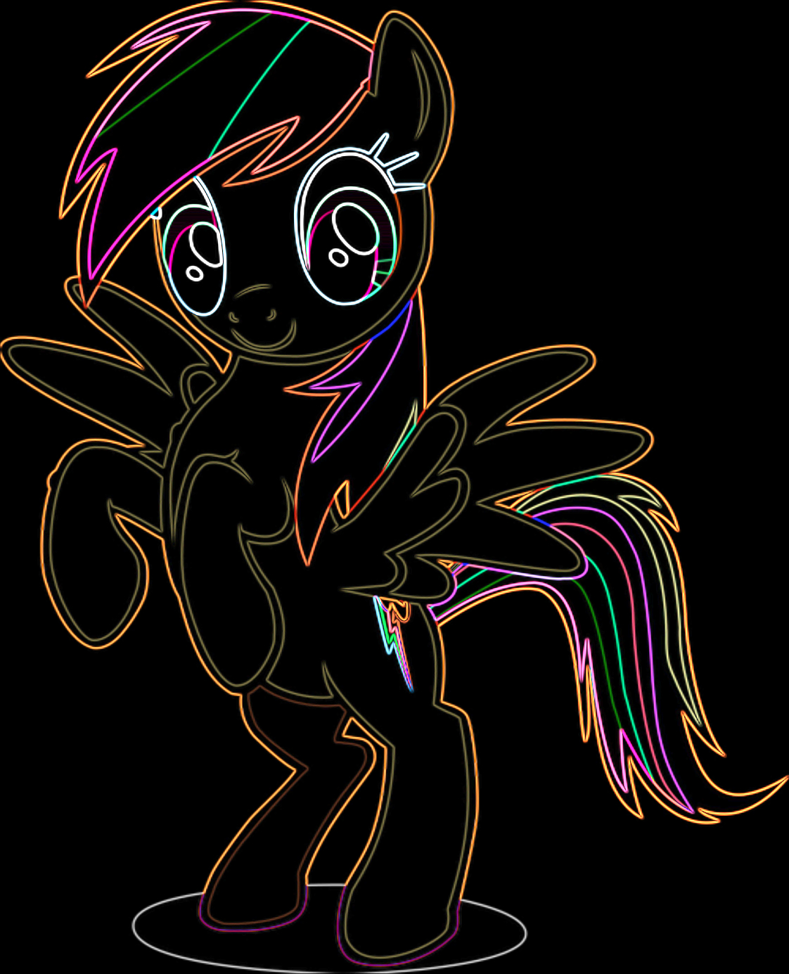 sobel rainbow dash standing on two legs mlp my little