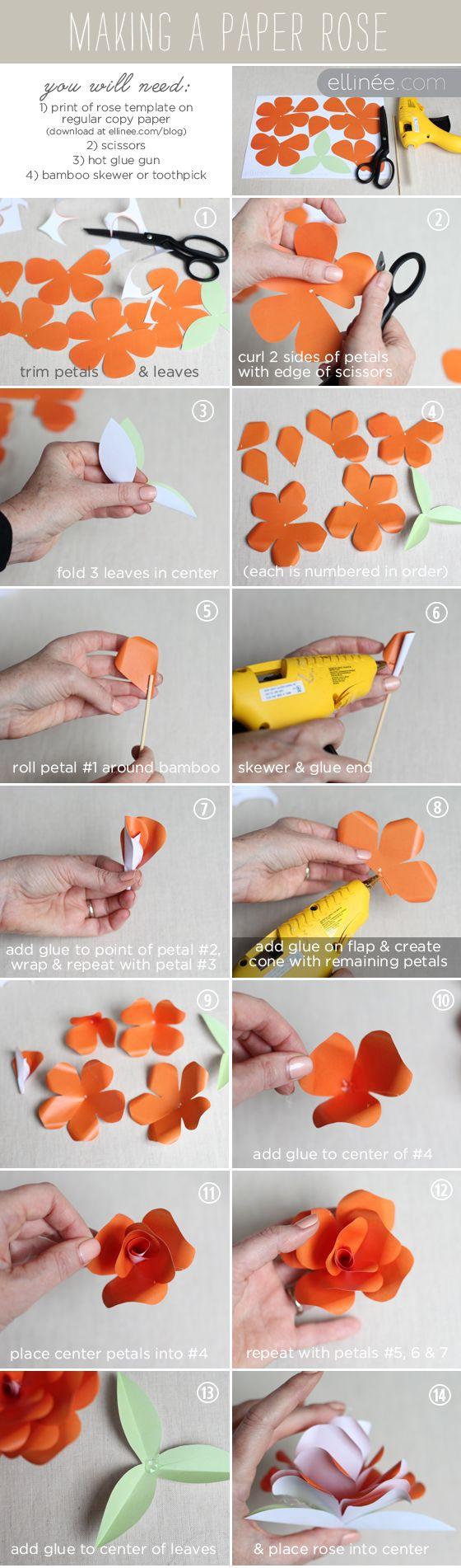 Как изготовить своими руками из бумаги розу
