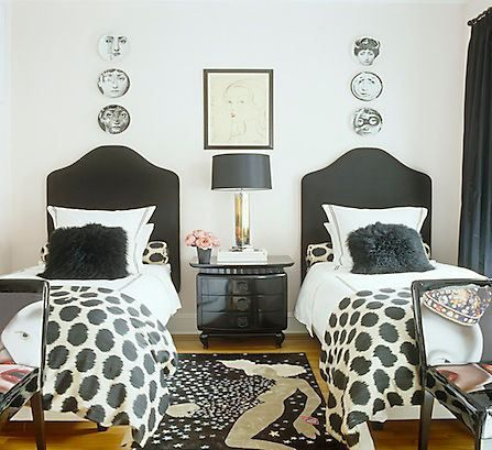 twin beds are such a charming way to decorate a guest bedroom and are a great way to keep a small bedroom from feeling crowded and tight