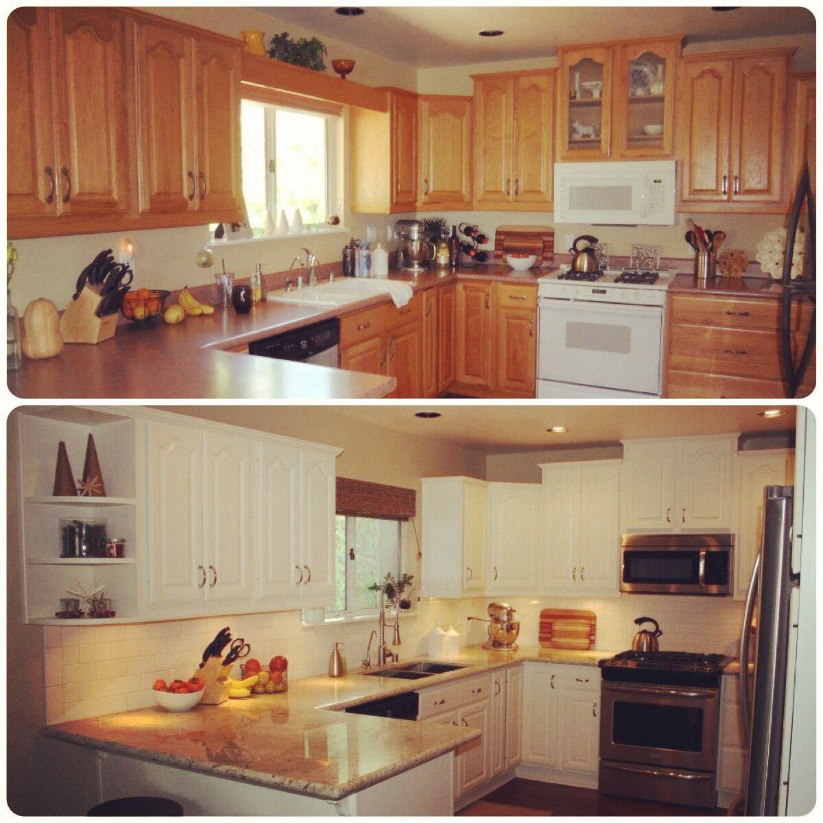 Before and after kitchen remodel for the home pinterest for Kitchen remodel pics