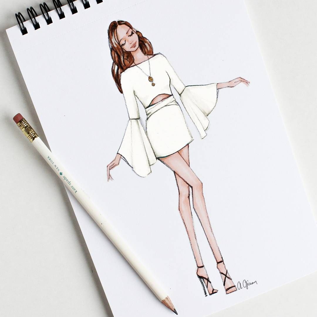 Fashion sketches step by 3