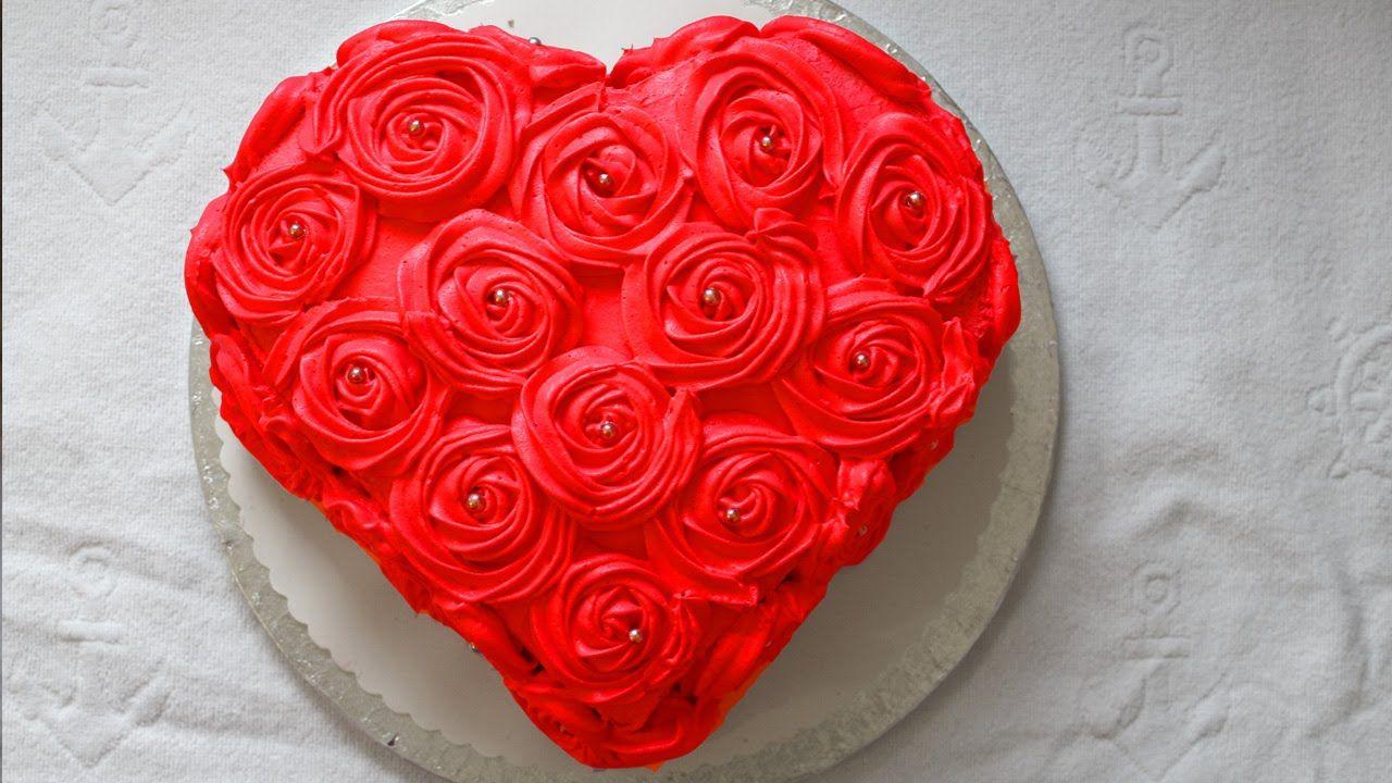 Muttertagstorte Rosen Torte Herztorte Valentinstag Torte Sahne ...