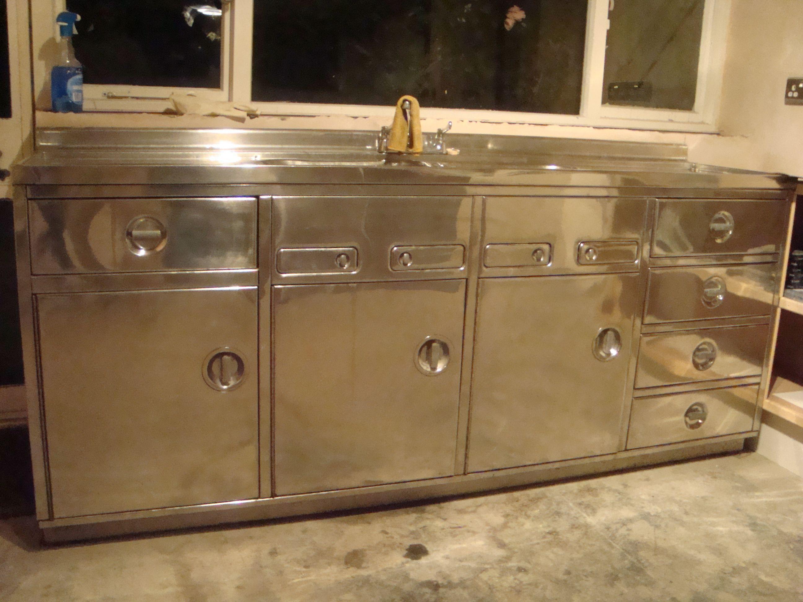 Industrial Double Sink : 60s industrial steel double sink unit Interior INDUSTRIAL Style ...
