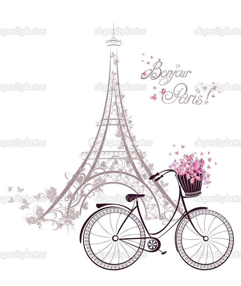Bonjour | Paris... E Bike Clipart