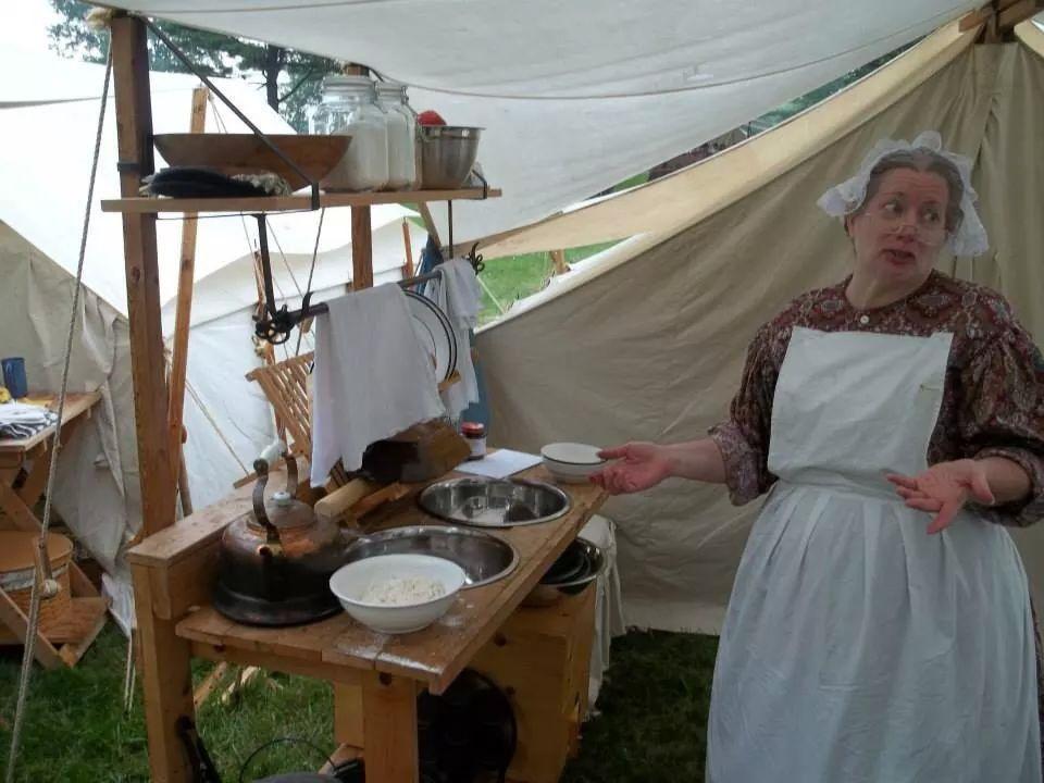 Civil war reenactment camp civil war reenacting for Civil kitchen designs