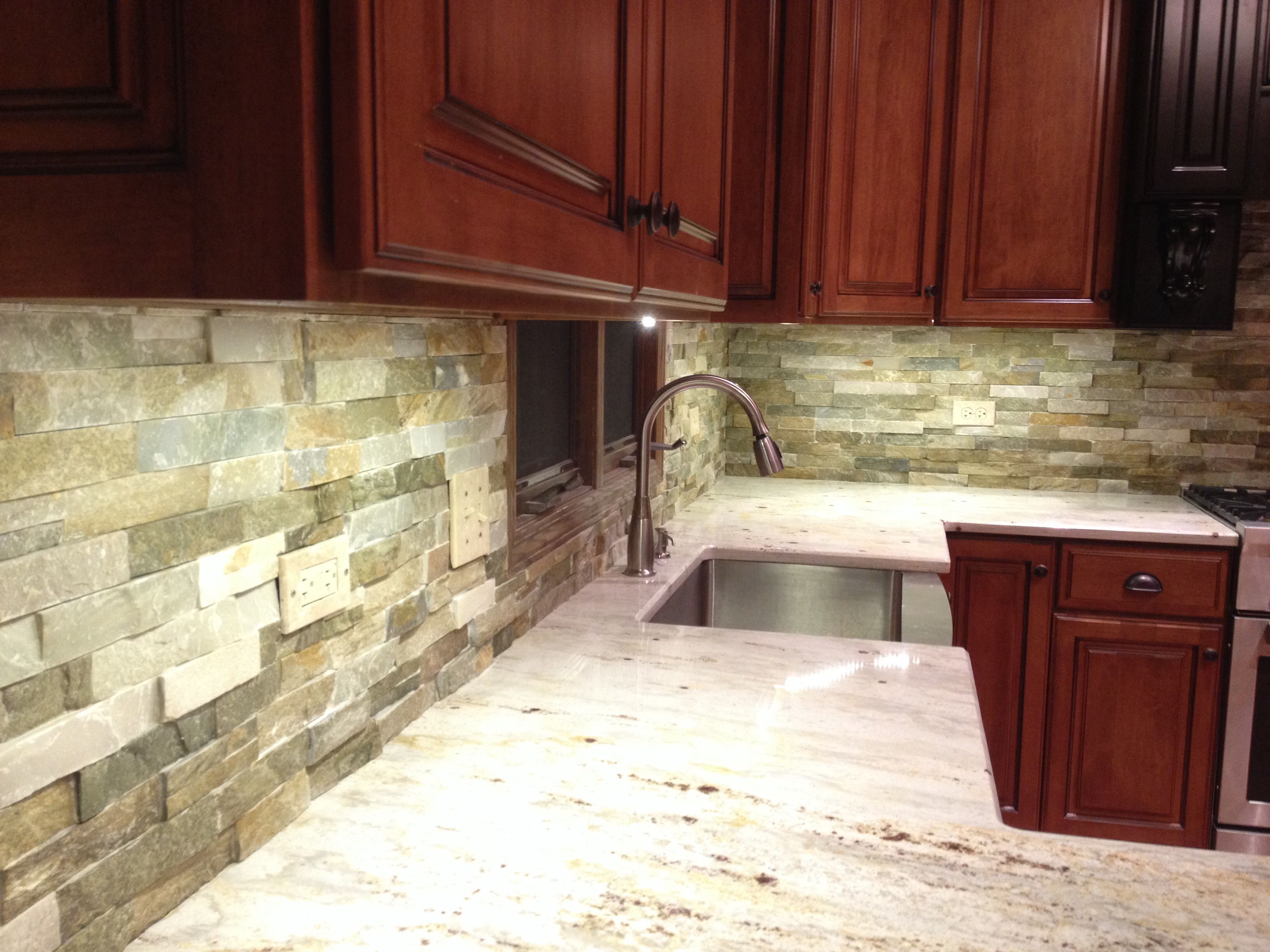 Stack Stone For A Backsplash Kitchen Remodel Pinterest