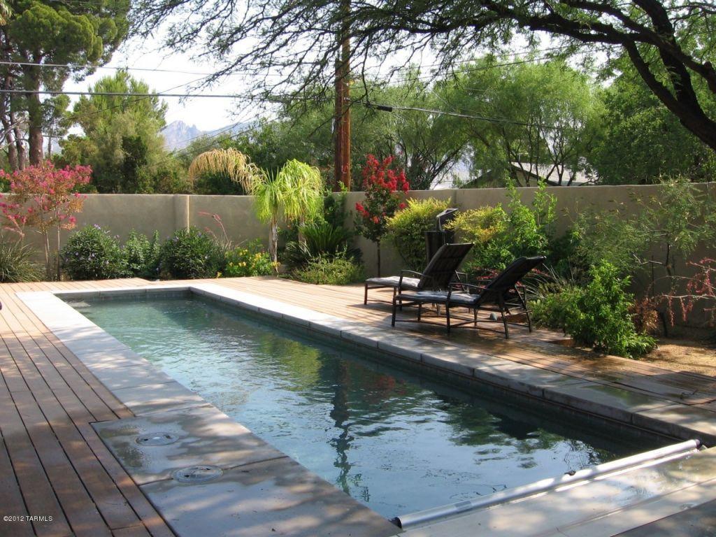 Narrow pool tucson landscaping ideas pinterest - Narrow pool designs ...