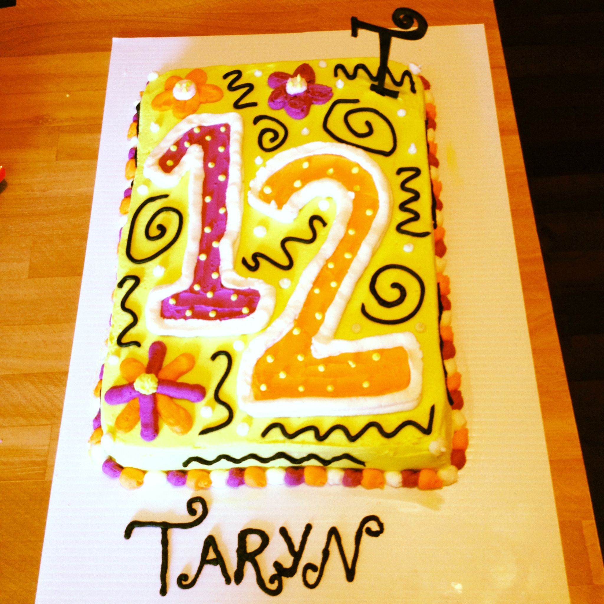 12th birthday cake.  Birthday Ideas  Pinterest