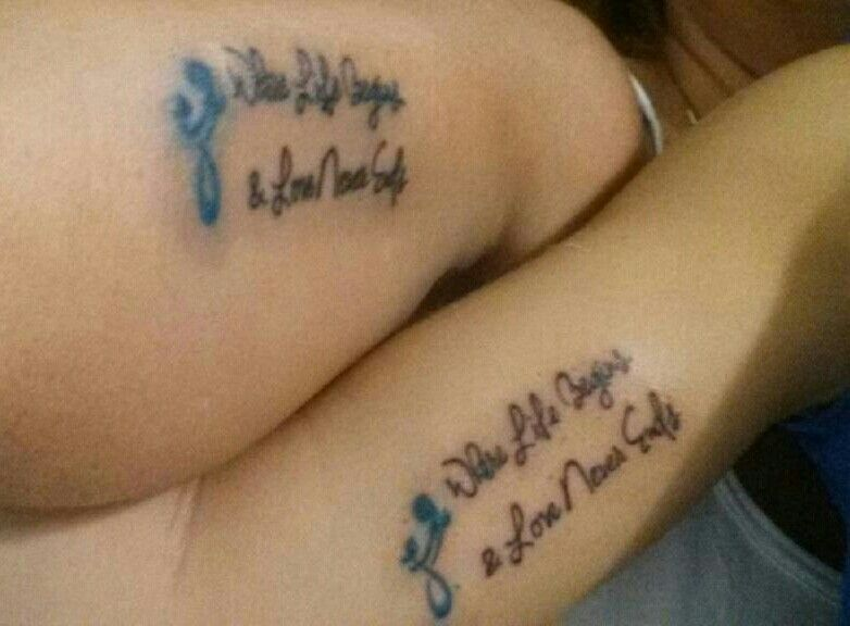 Our new mother daughter tattoos tattoos mother daughter pinter