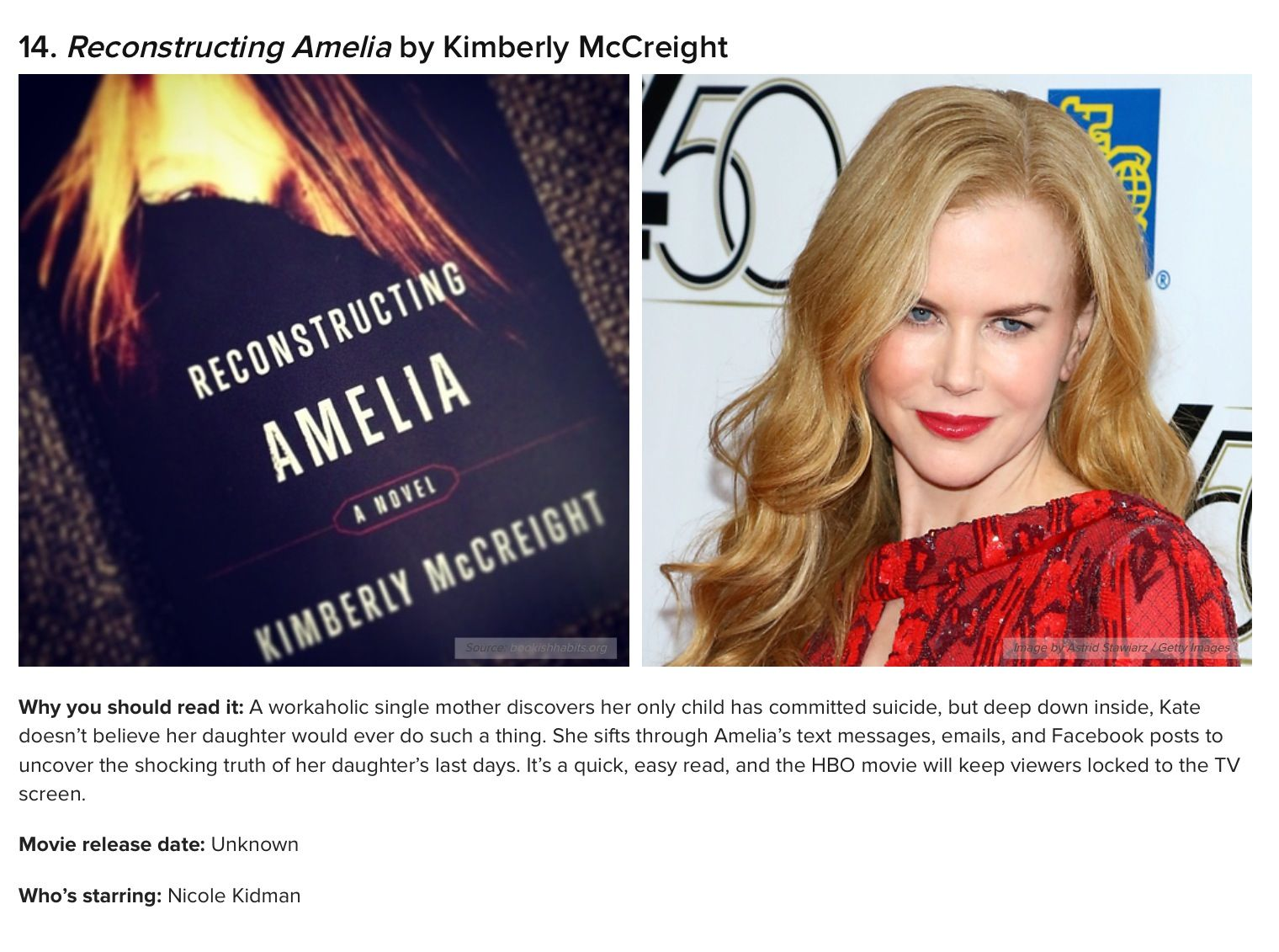 Reconstructing Amelia | Books to read | Pinterest