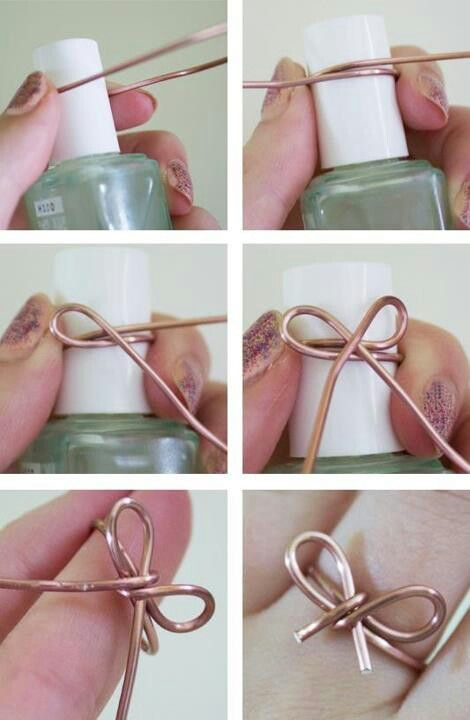 D i y bow ring other bling for Very simple wire craft projects