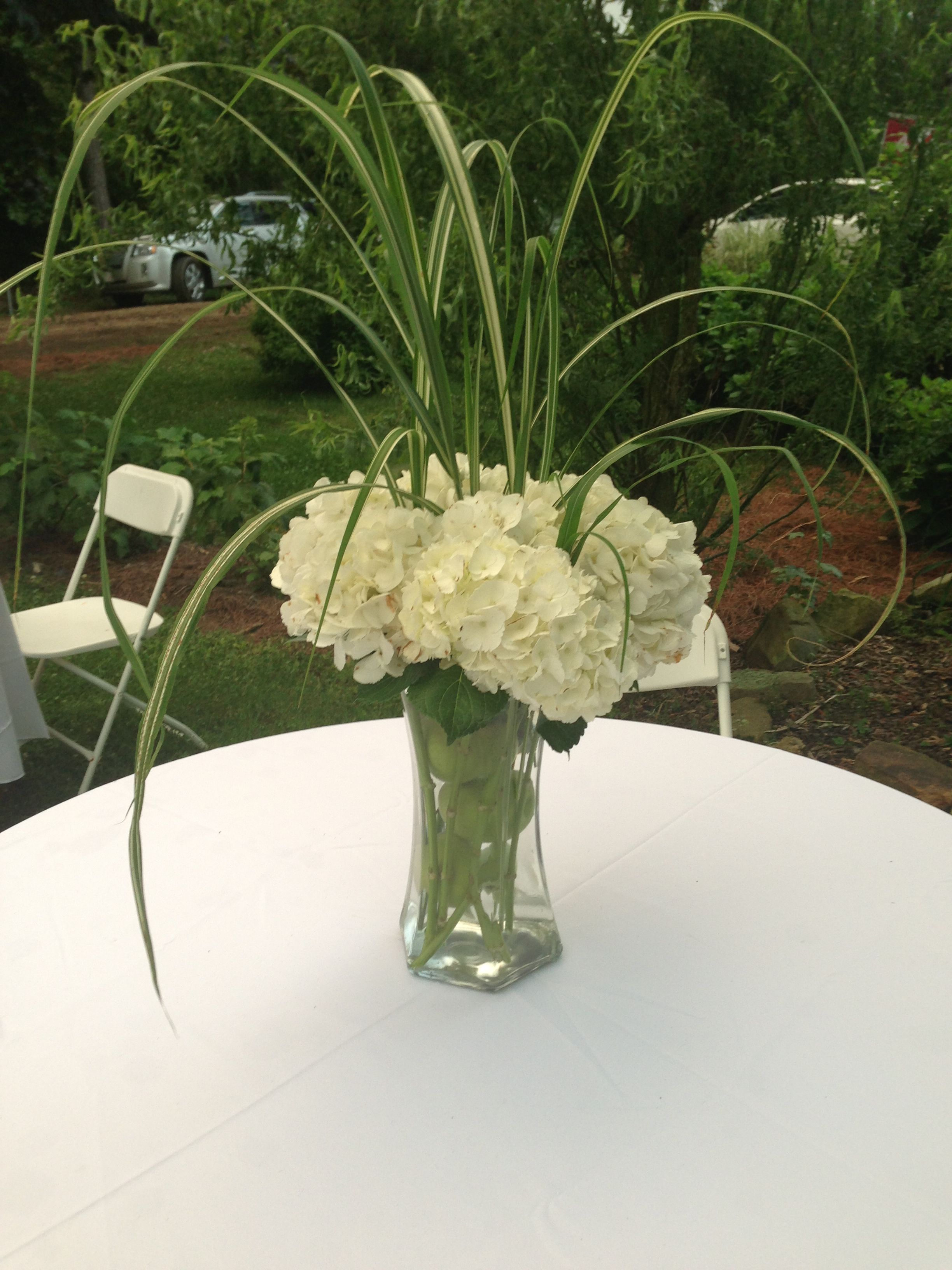 Hydrangea arrangement wedding ideas pinterest