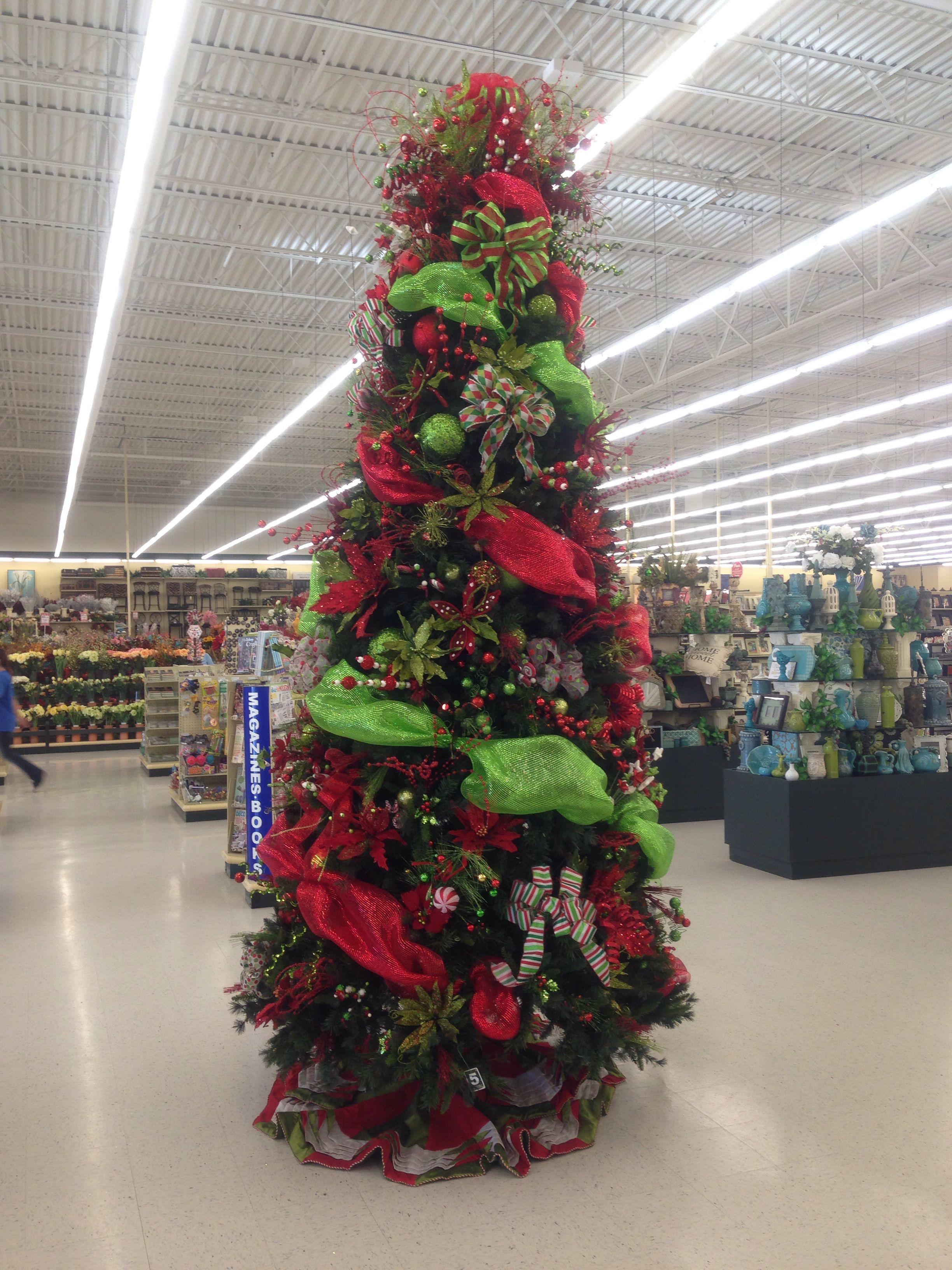 Decorated Christmas tree hobby lobby | Christmas Trees | Pinterest