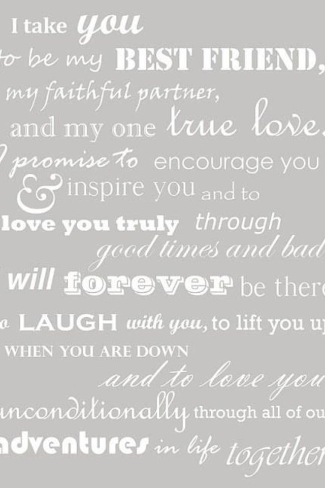 Beautiful Words For Marriage Vow