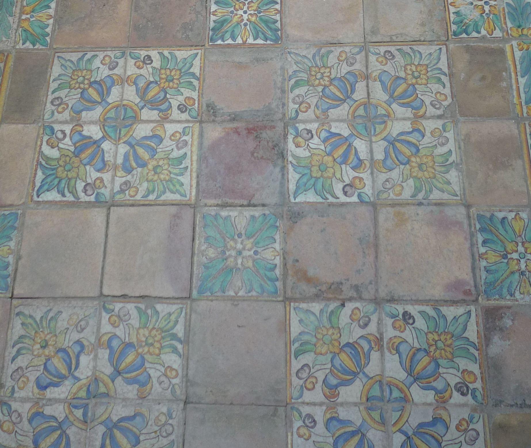Spanish Antique Ceramic Tile Floor Home Pinterest