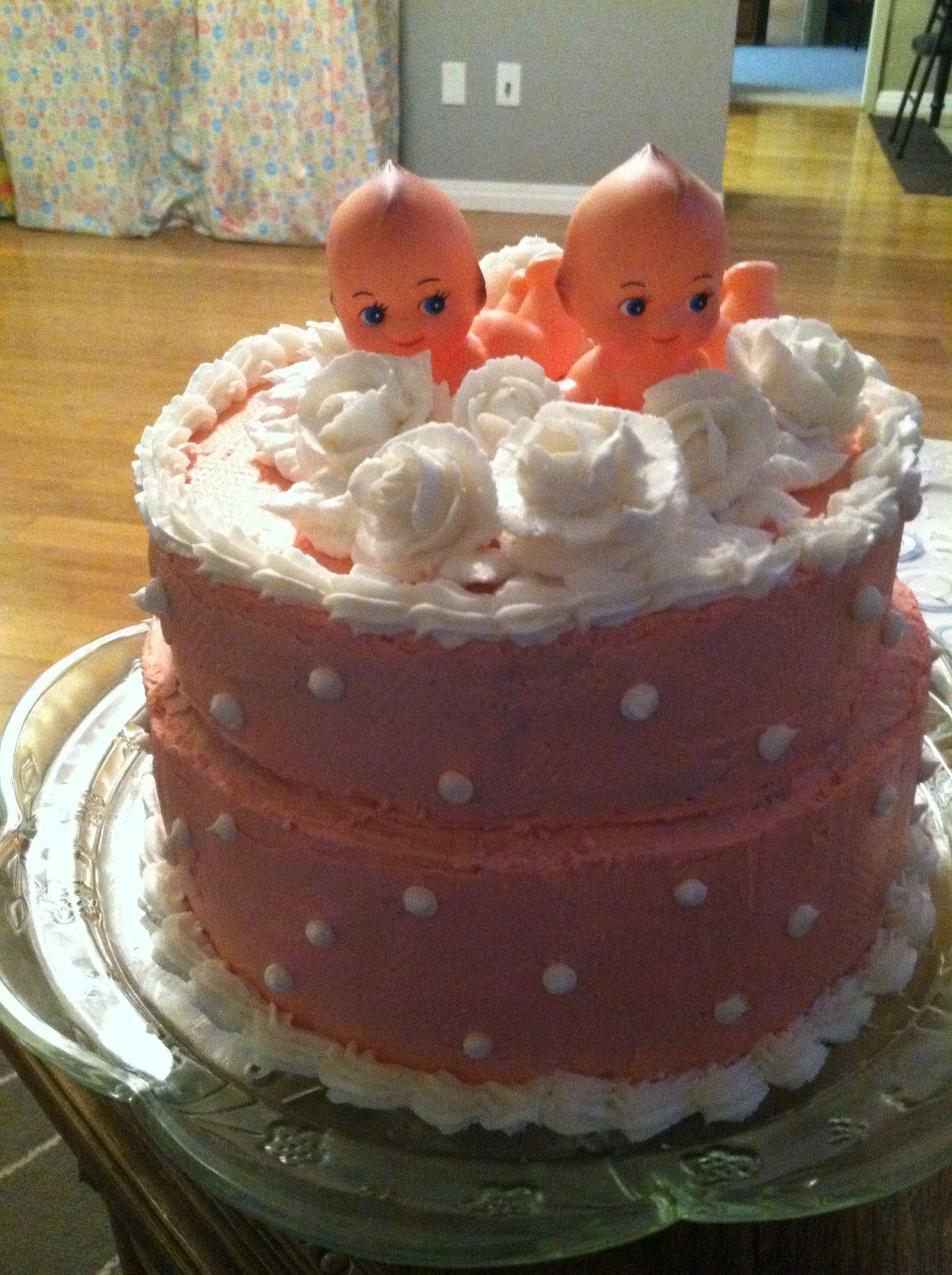 baby shower cake twin girls buttercream baby shower pinterest