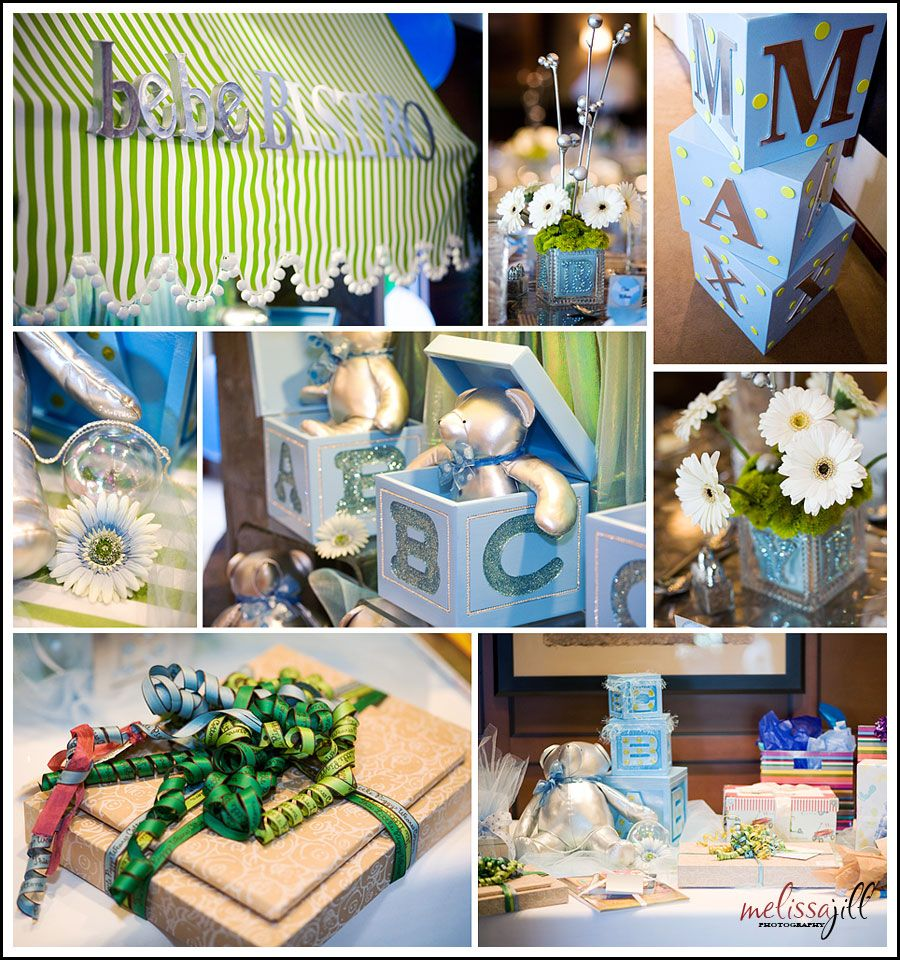 green and blue baby shower for boy baby showers pinterest