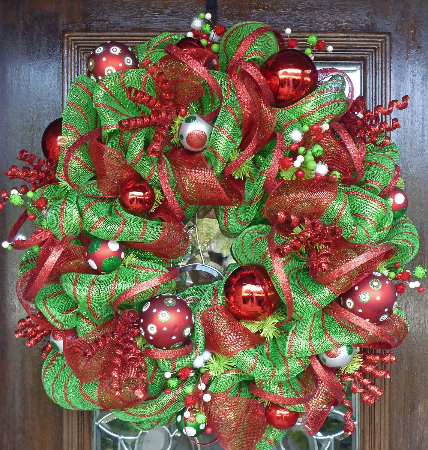 Deco mesh wreath ideas bing images wreaths for all for Latest xmas decorations