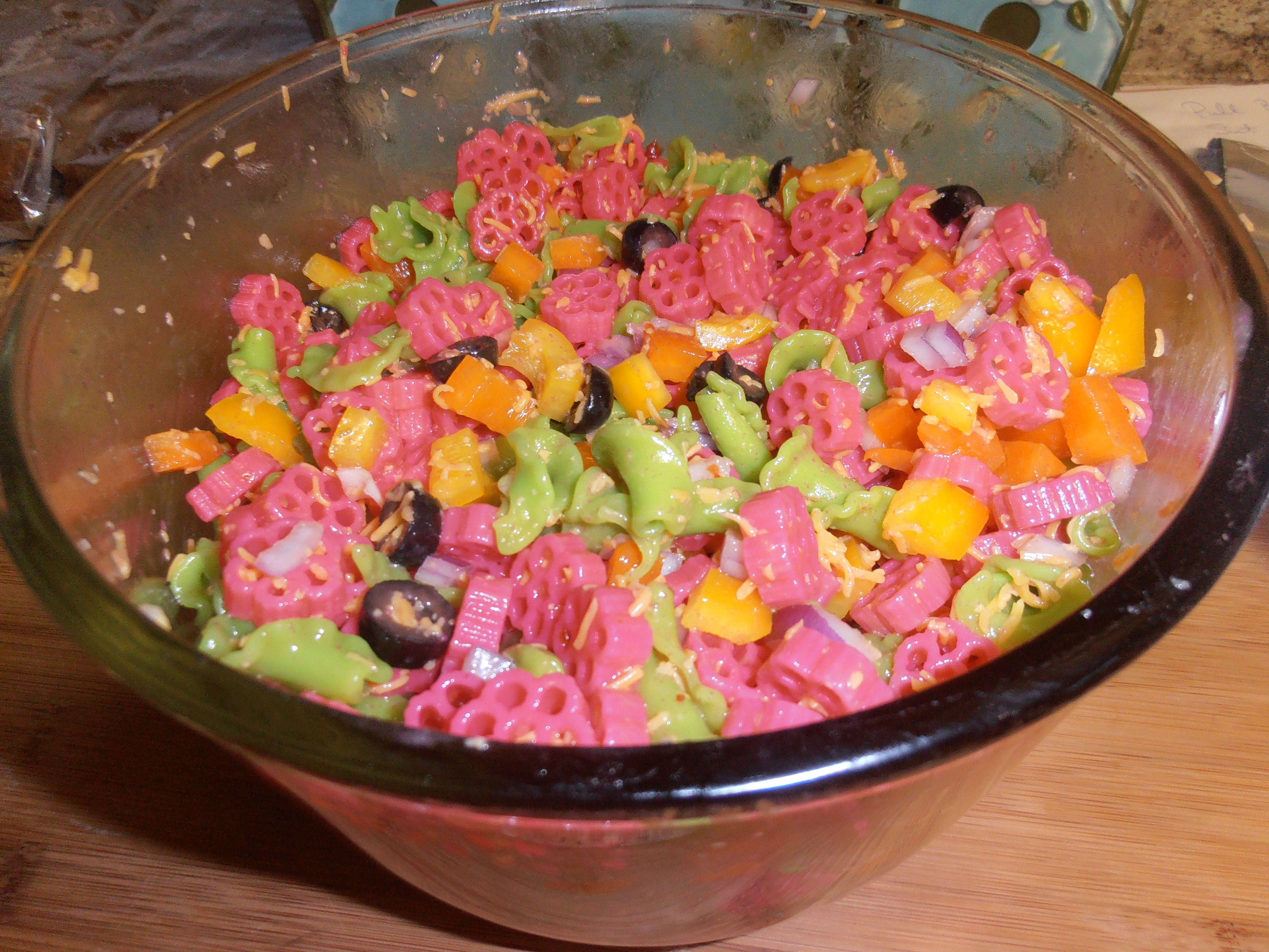 Party Colored Pasta Salad Ideas For Emma Pinterest