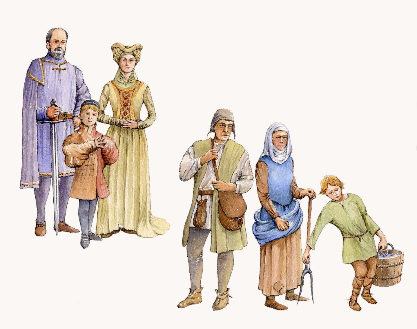 medieval society While feudalism developed in europe in about 900 ad after the fall of rome, feudalism also developed in japan and was organized in a similar manner.