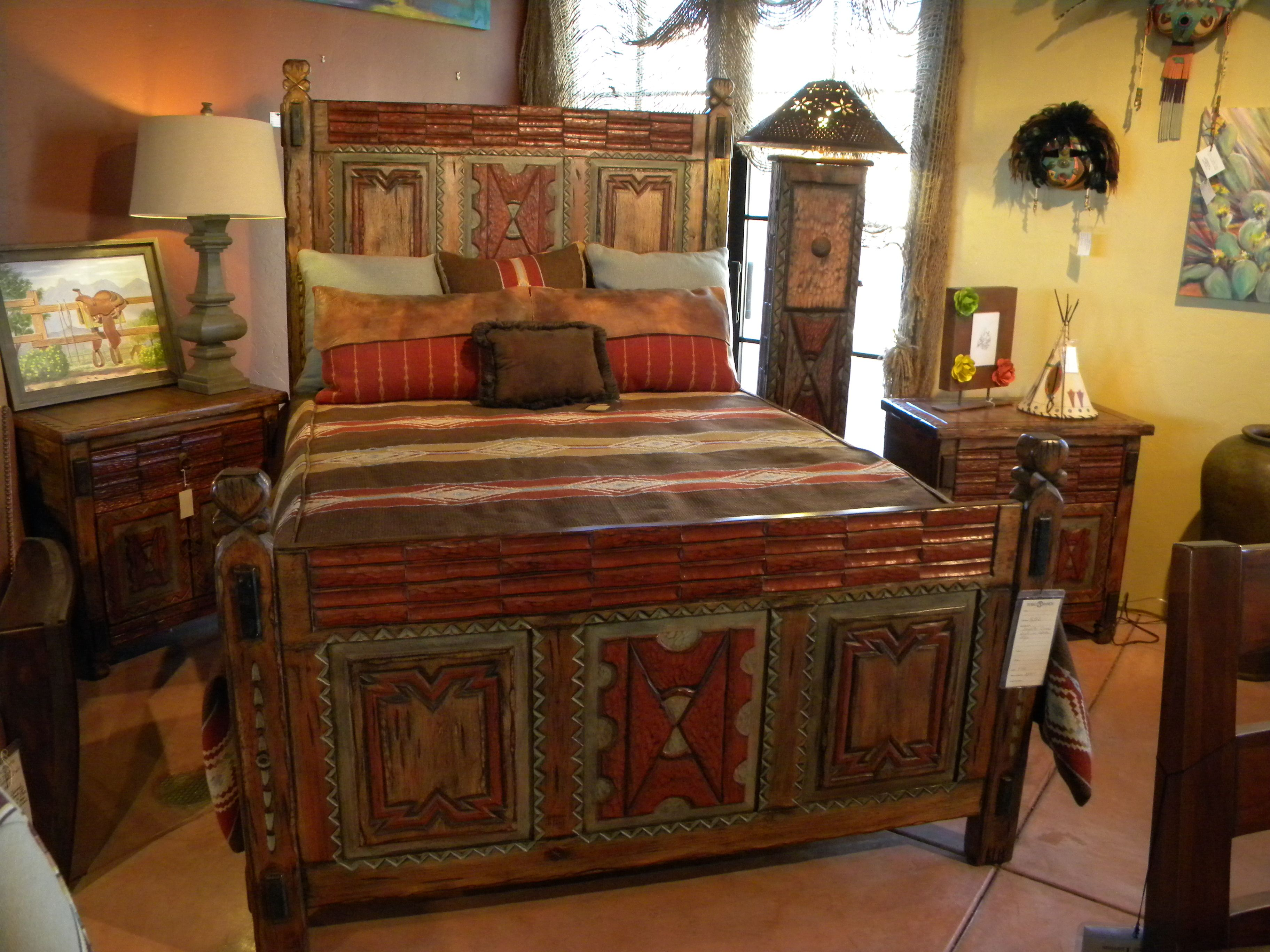 Bed cibuta style spanish colonial pinterest for Spanish style bed