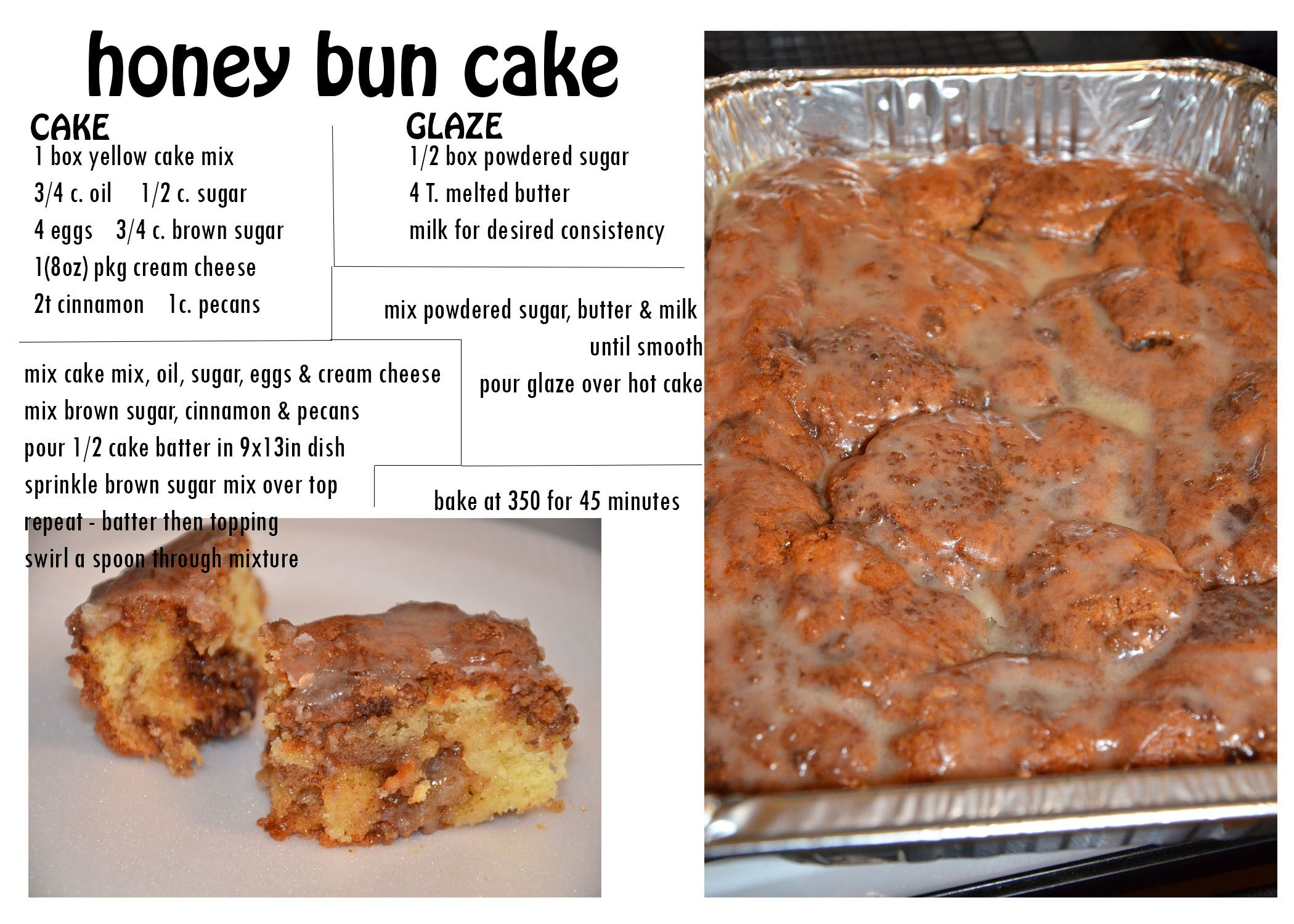 Honey Bun Cake Pinterest