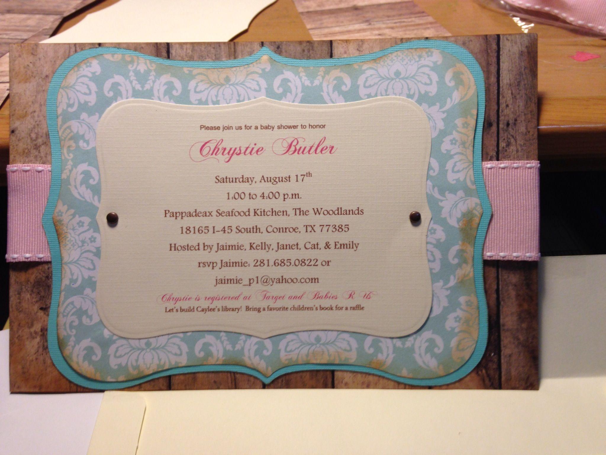 Vintage Invitations Baby Shower is amazing invitations design