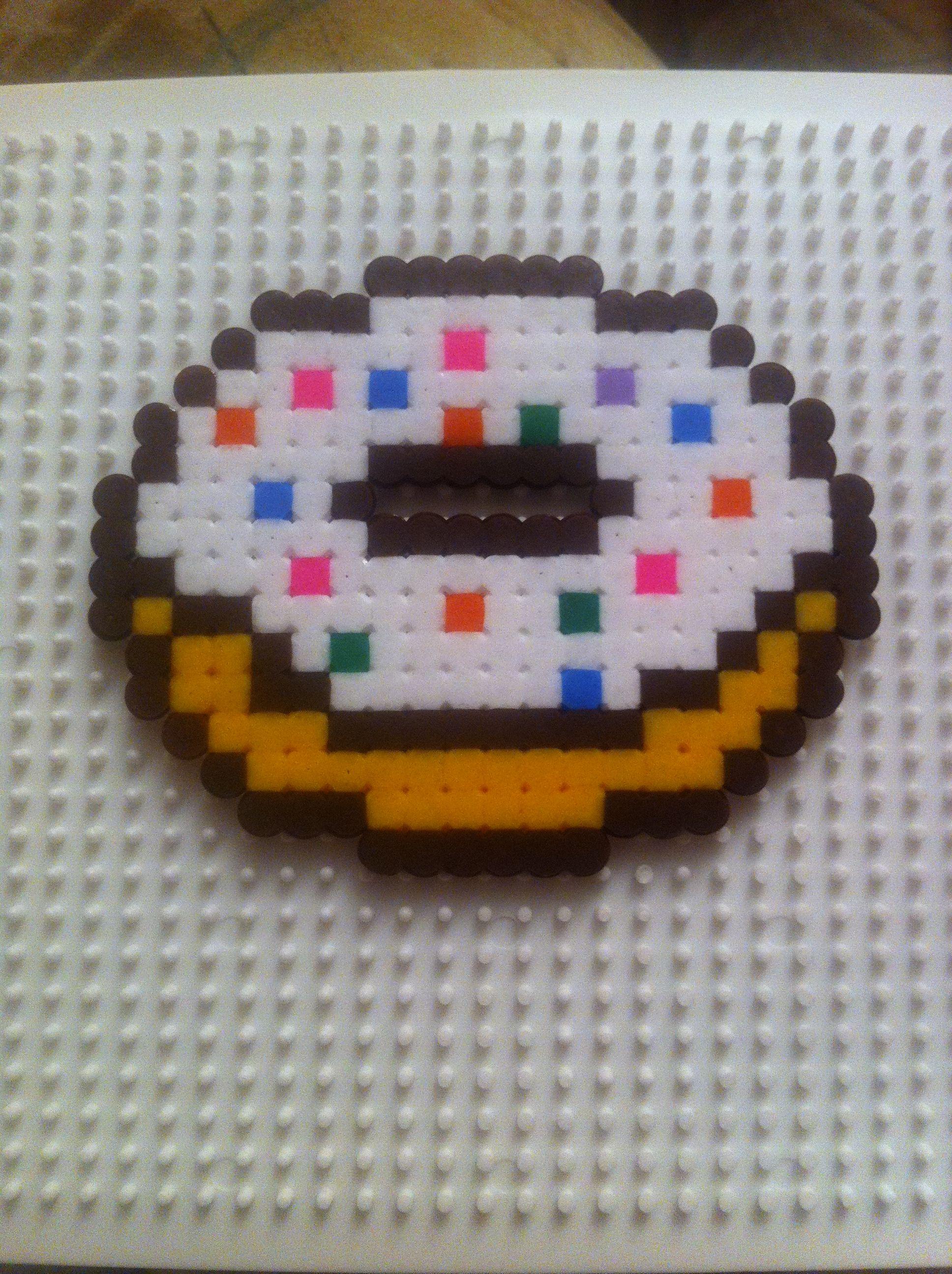 Пончик из бисера схема