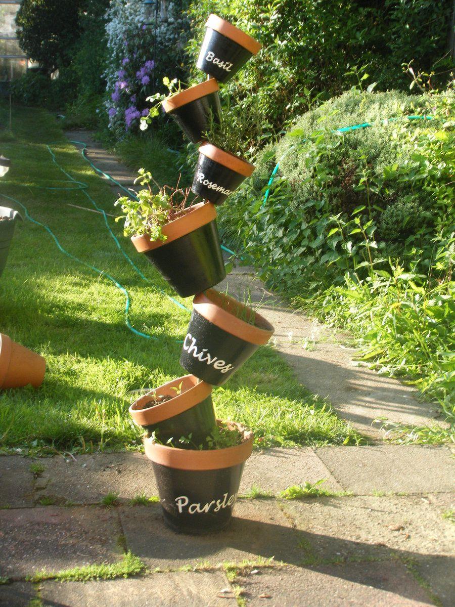 Vertical Herb Garden For The Yard Pinterest