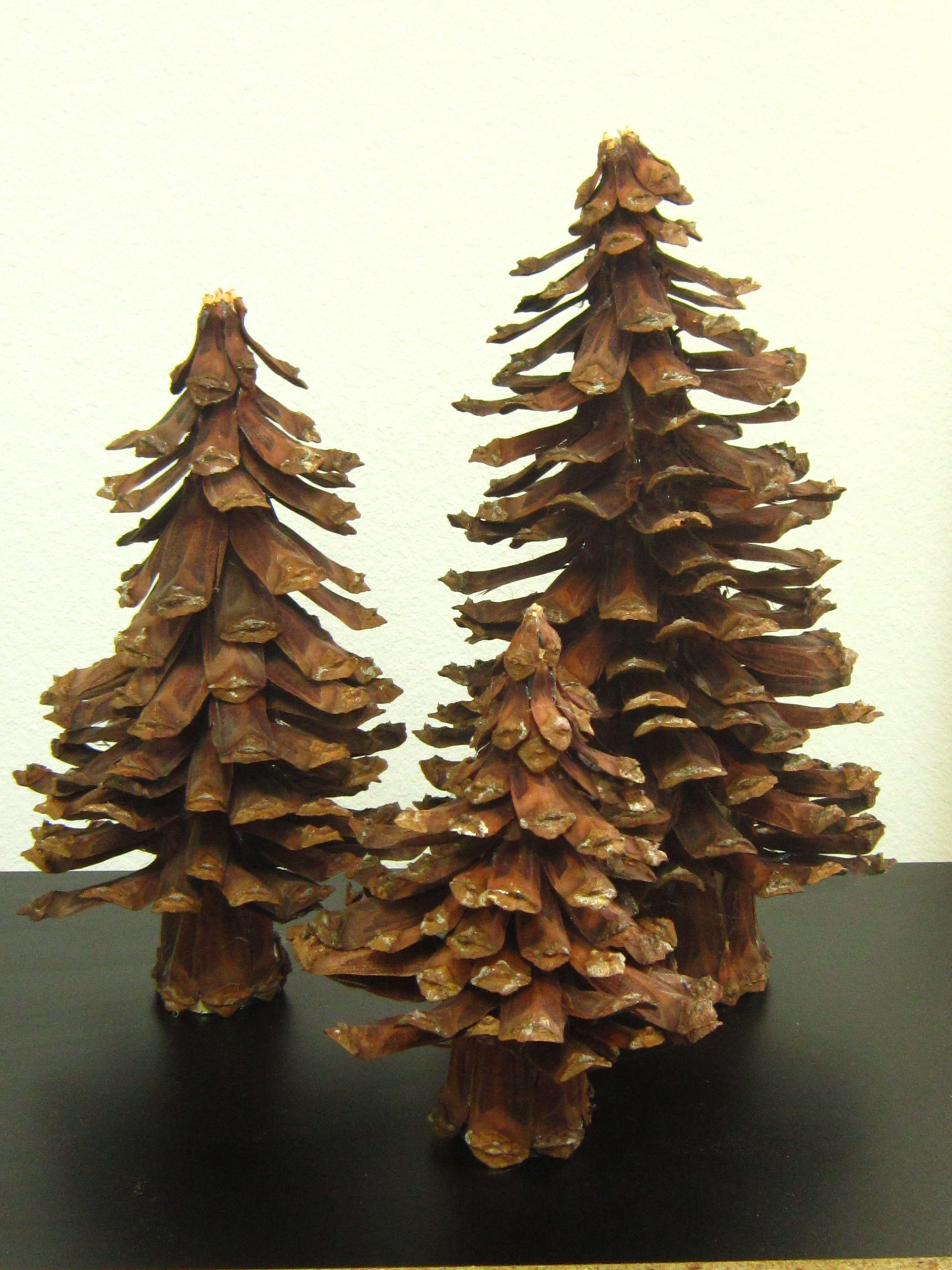 Pine cone tree christmas pinterest for Pine cone xmas tree