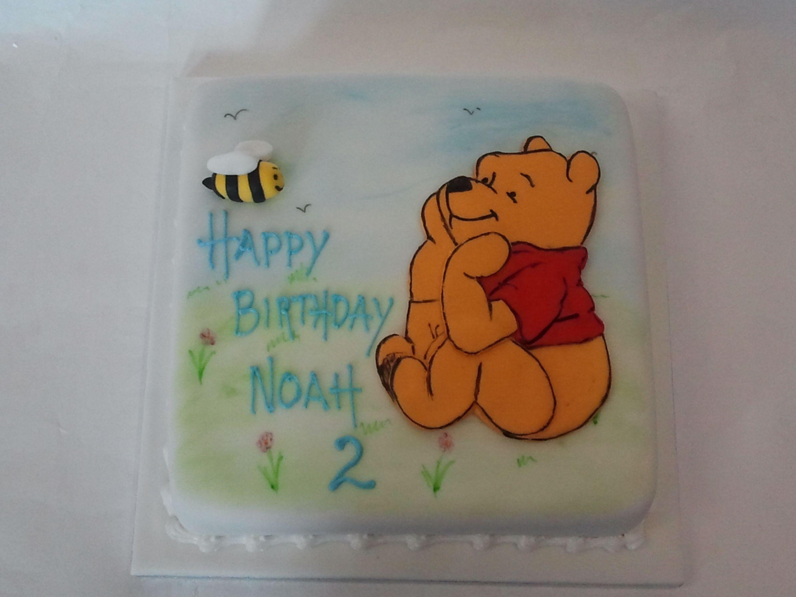 pooh bear birthday cake Issac Pinterest