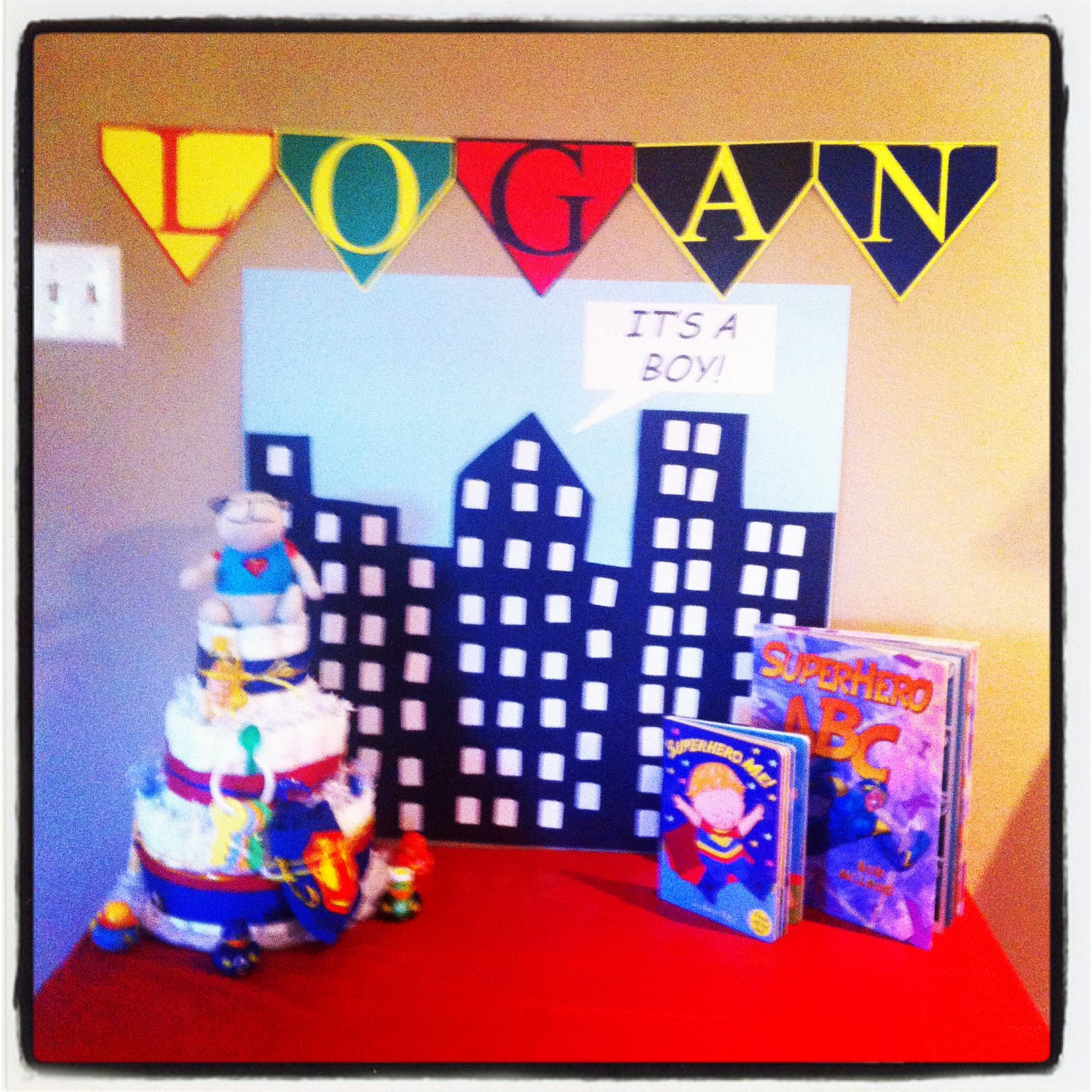 superhero themed baby shower parties pinterest