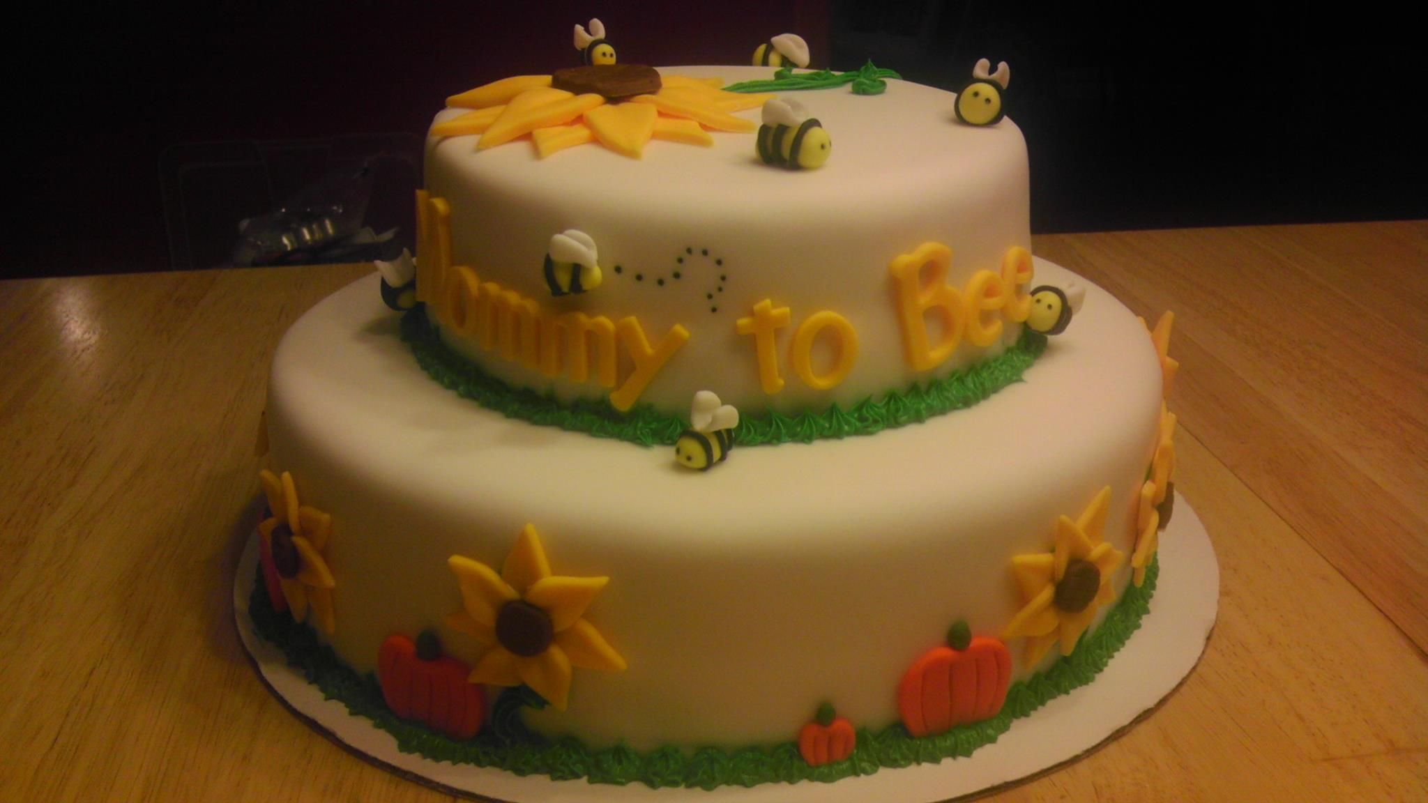 fall bee theme baby shower cake a piece of cake pinterest