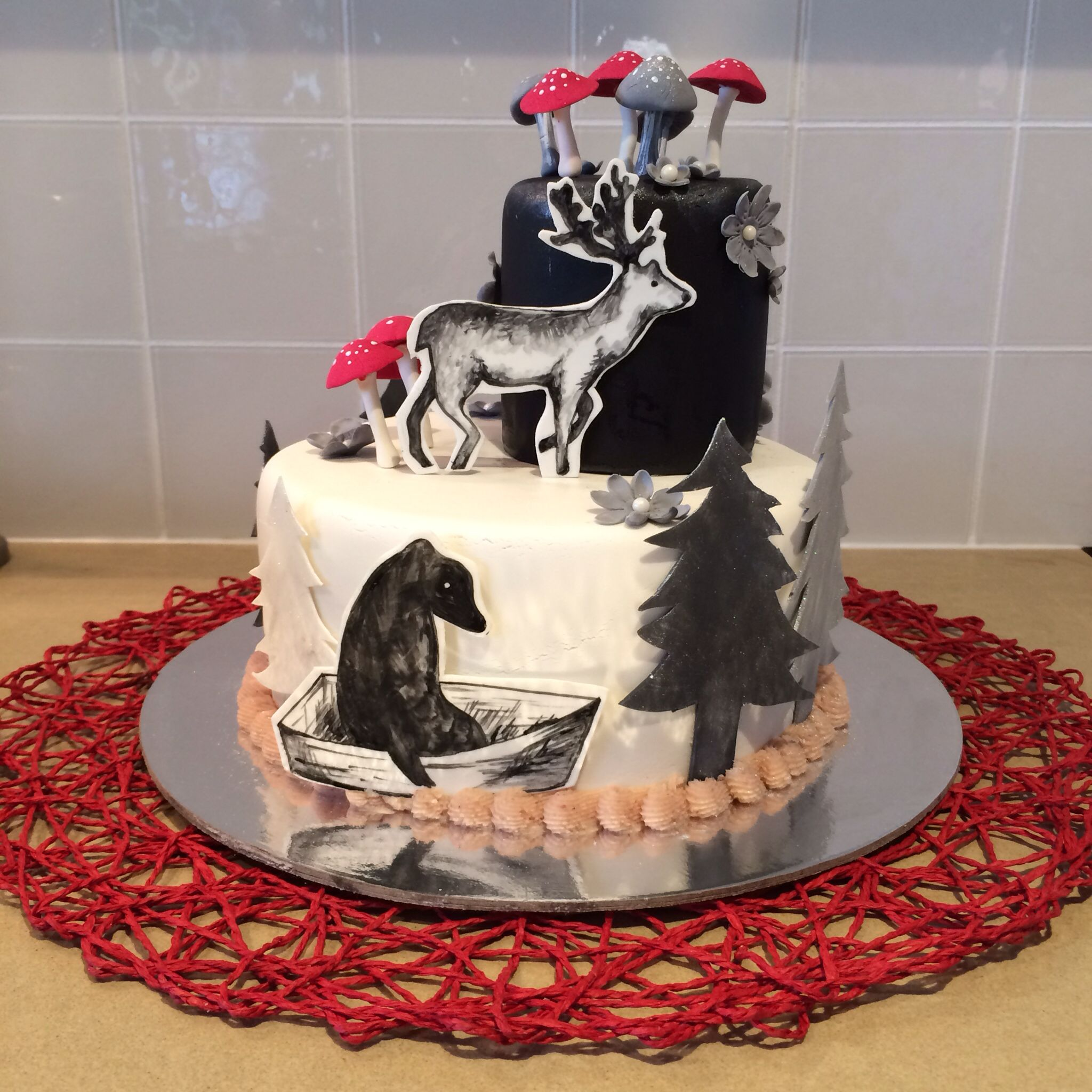 Cake Black Forest Birthday : Black forest themed birthday cake. A&A Events & Cakes ...