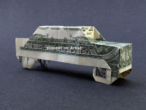 Машина из денег в подарок