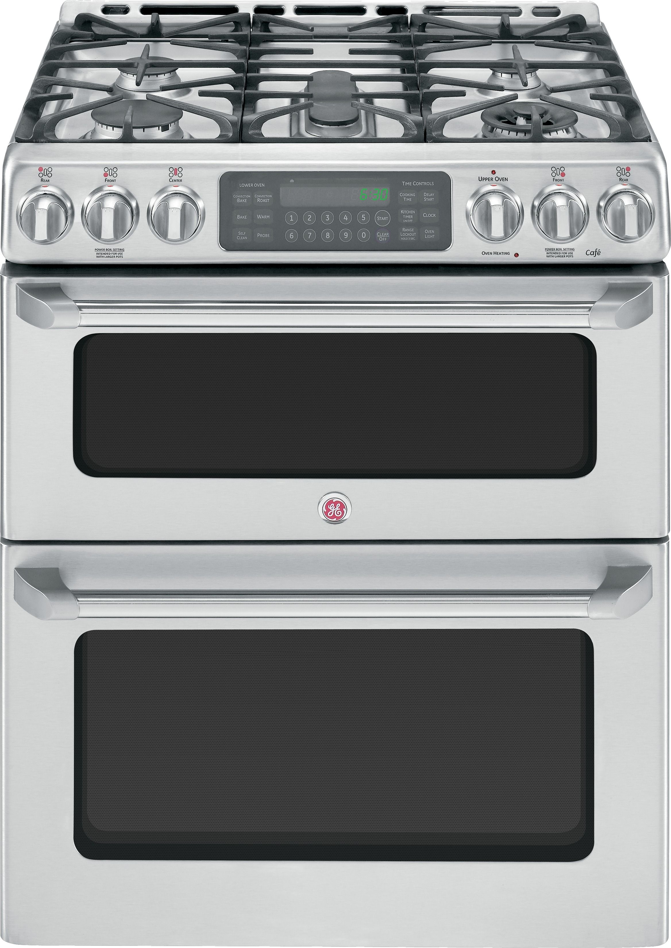 Ge Cafe Double Oven Gas Range Kitchen Pinterest