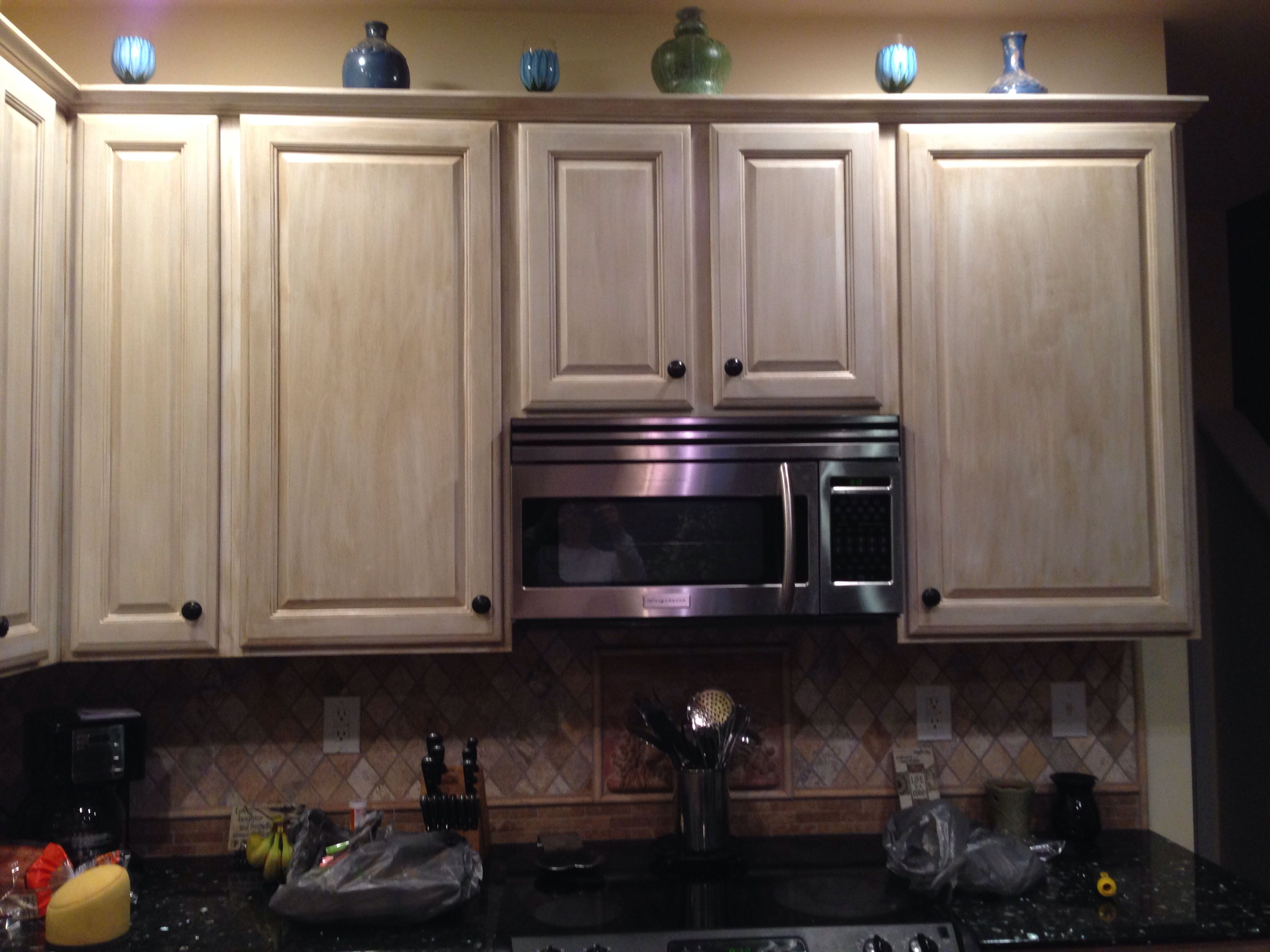 White Washed Distressed Cabinets Kitchens Pinterest