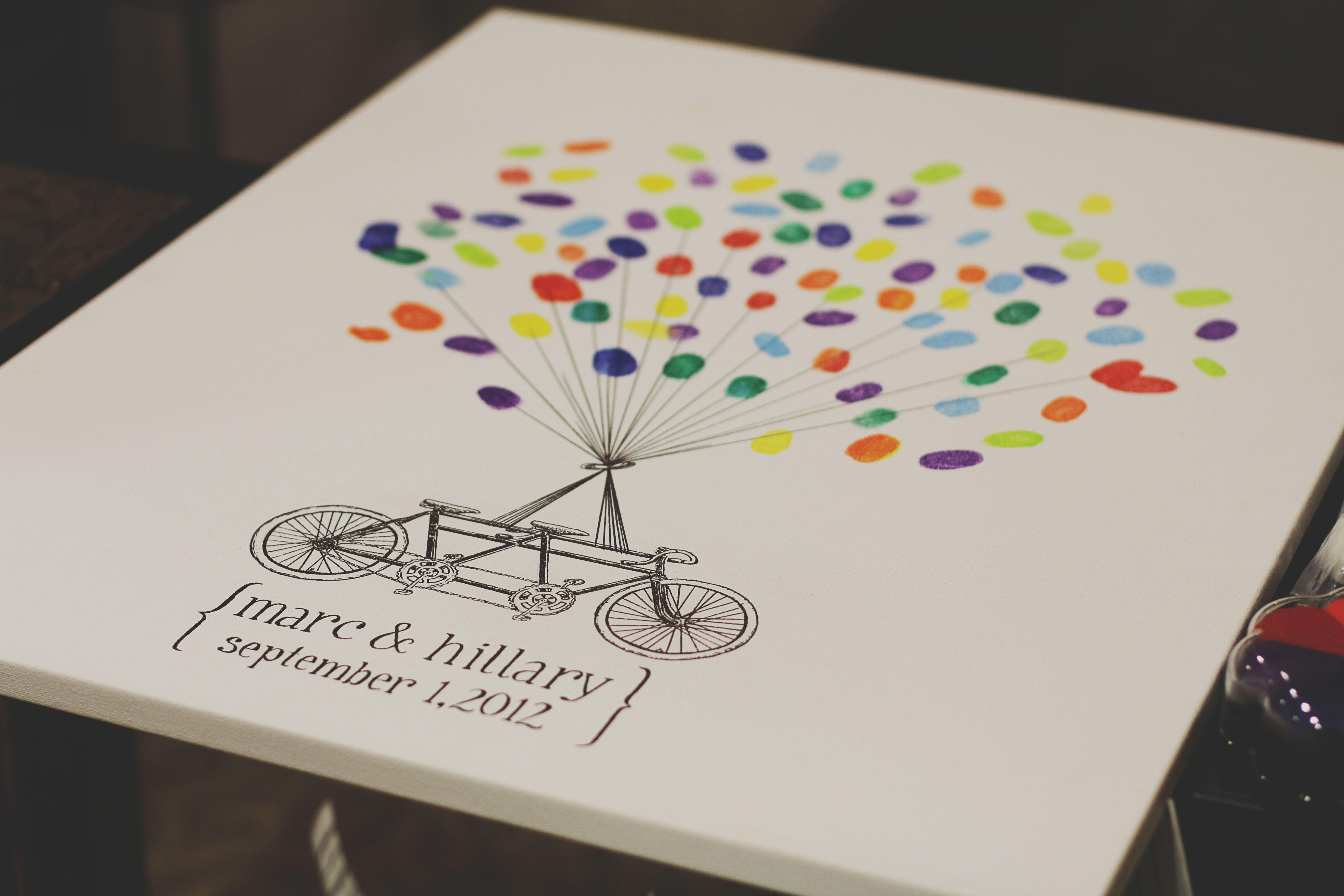 thumbprint guest book hillary 39 s wedding pinterest