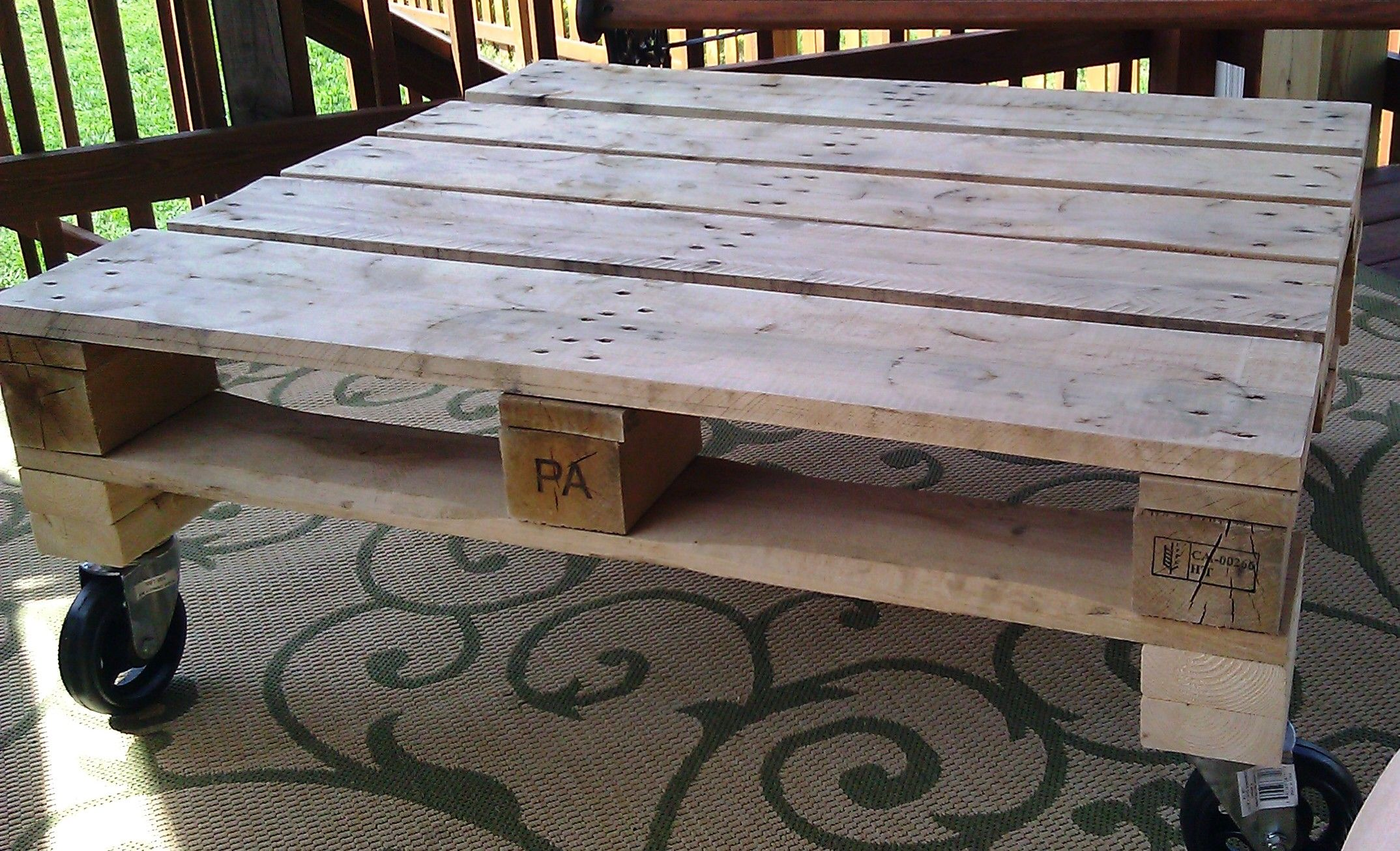 Pallet Coffee Table Natural Decor Pinterest
