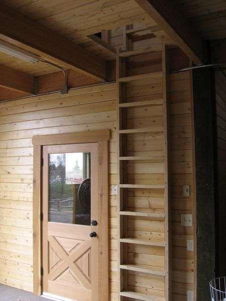 Another possibility | Cabin loft/ladder ideas | Pinterest