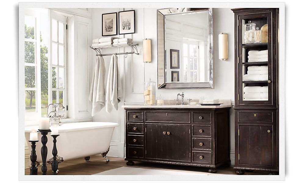 restoration hardware bath pinterest. Black Bedroom Furniture Sets. Home Design Ideas