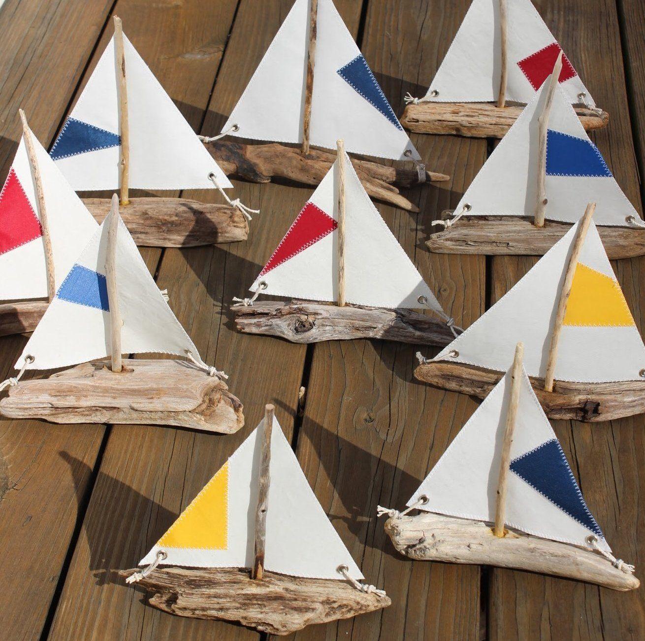 Driftwood Sailboat Ornaments By Ruth Mcgovern