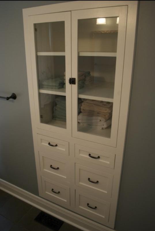 bathroom linen closet update room ideas pinterest