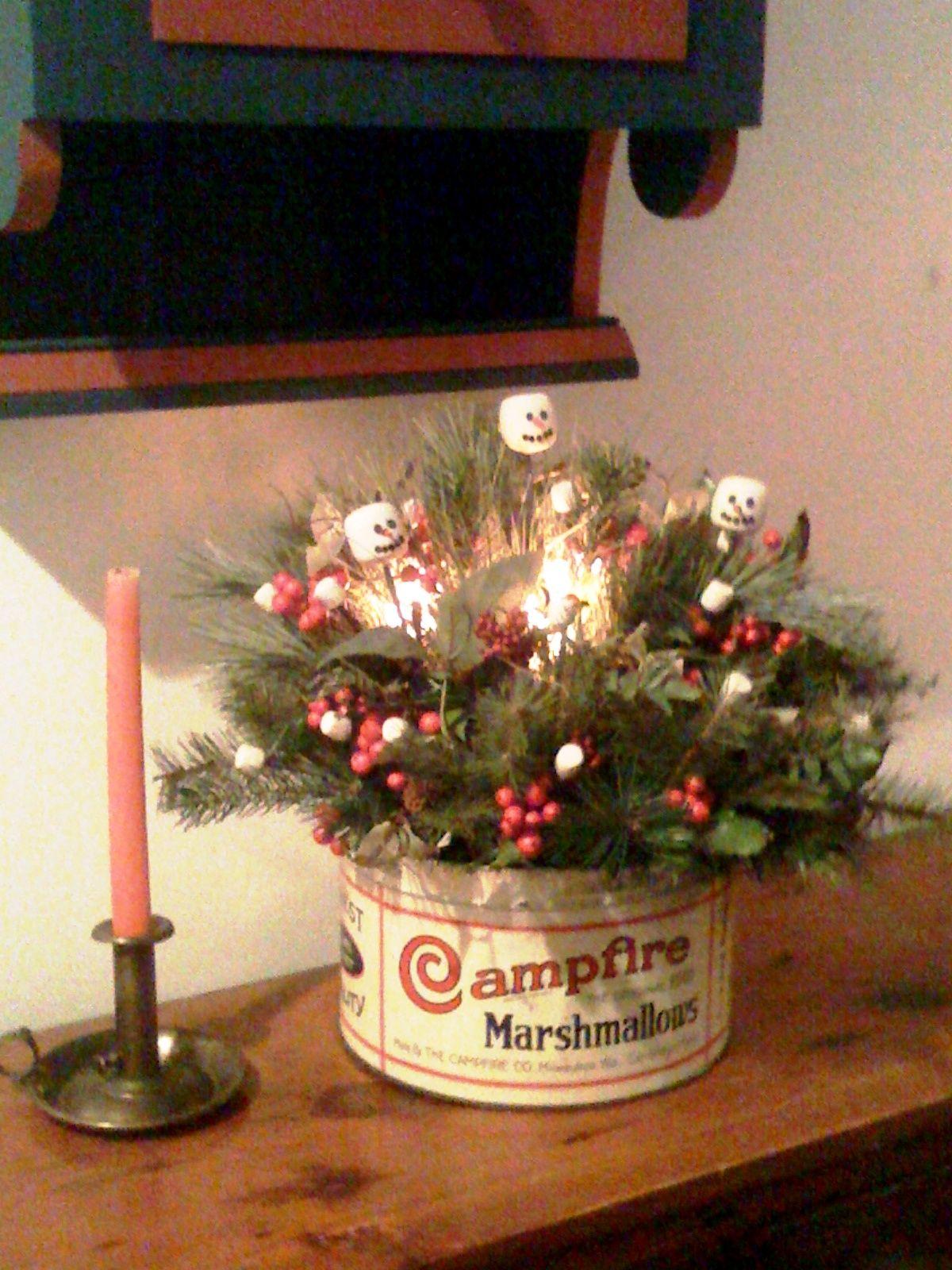 It 39 S A Marshmallow World Christmas Centerpiece Ideas