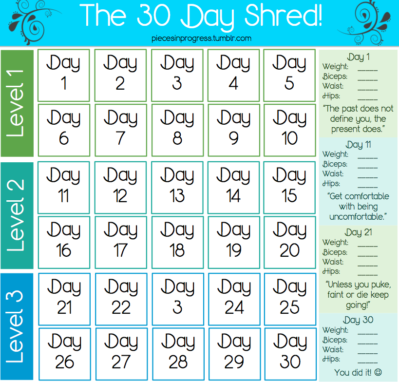 Burning Calories With Jillian Michaels 30-Day Shred advise