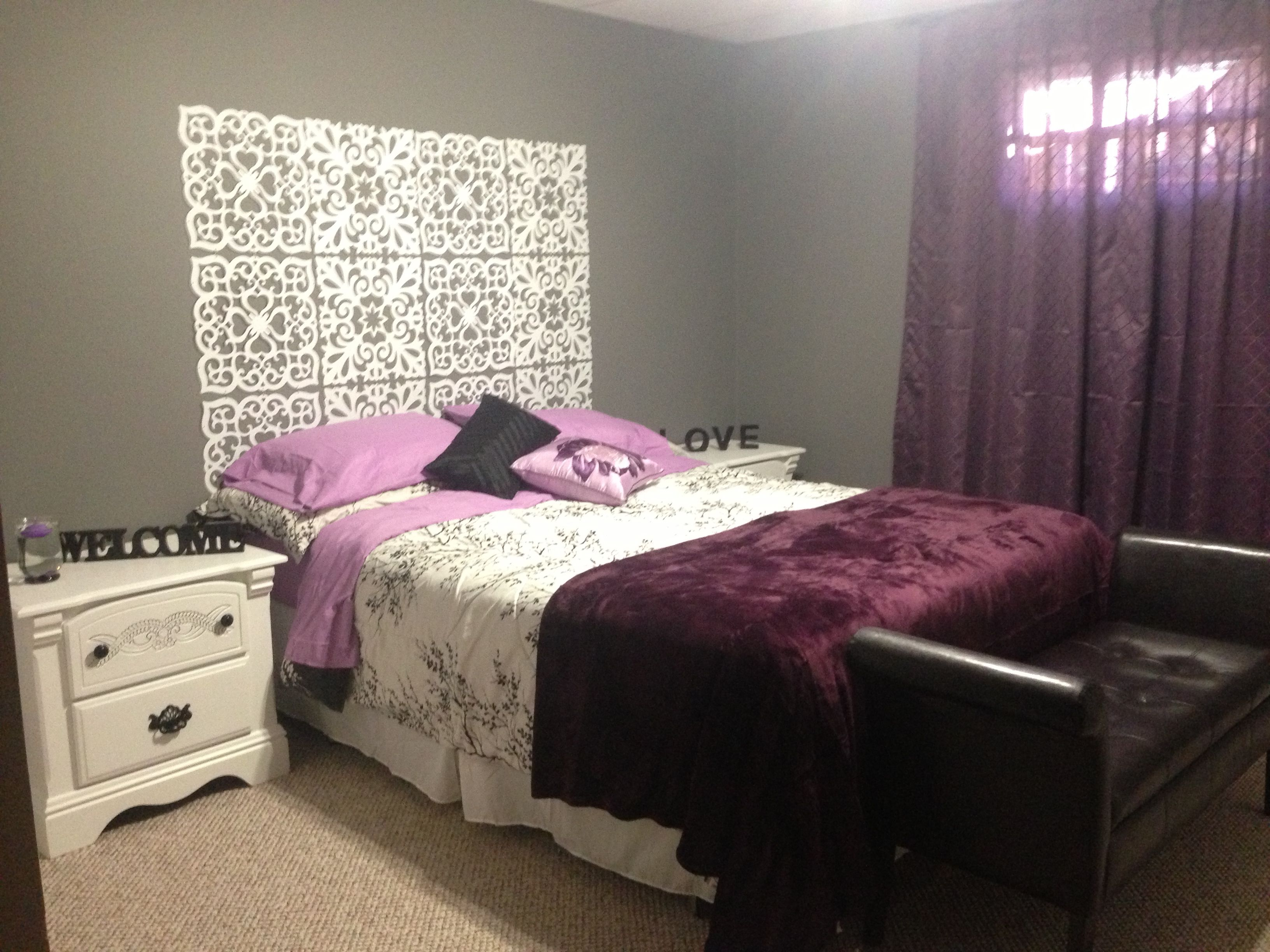 purple grey and white bedroom ideas for the home pinterest